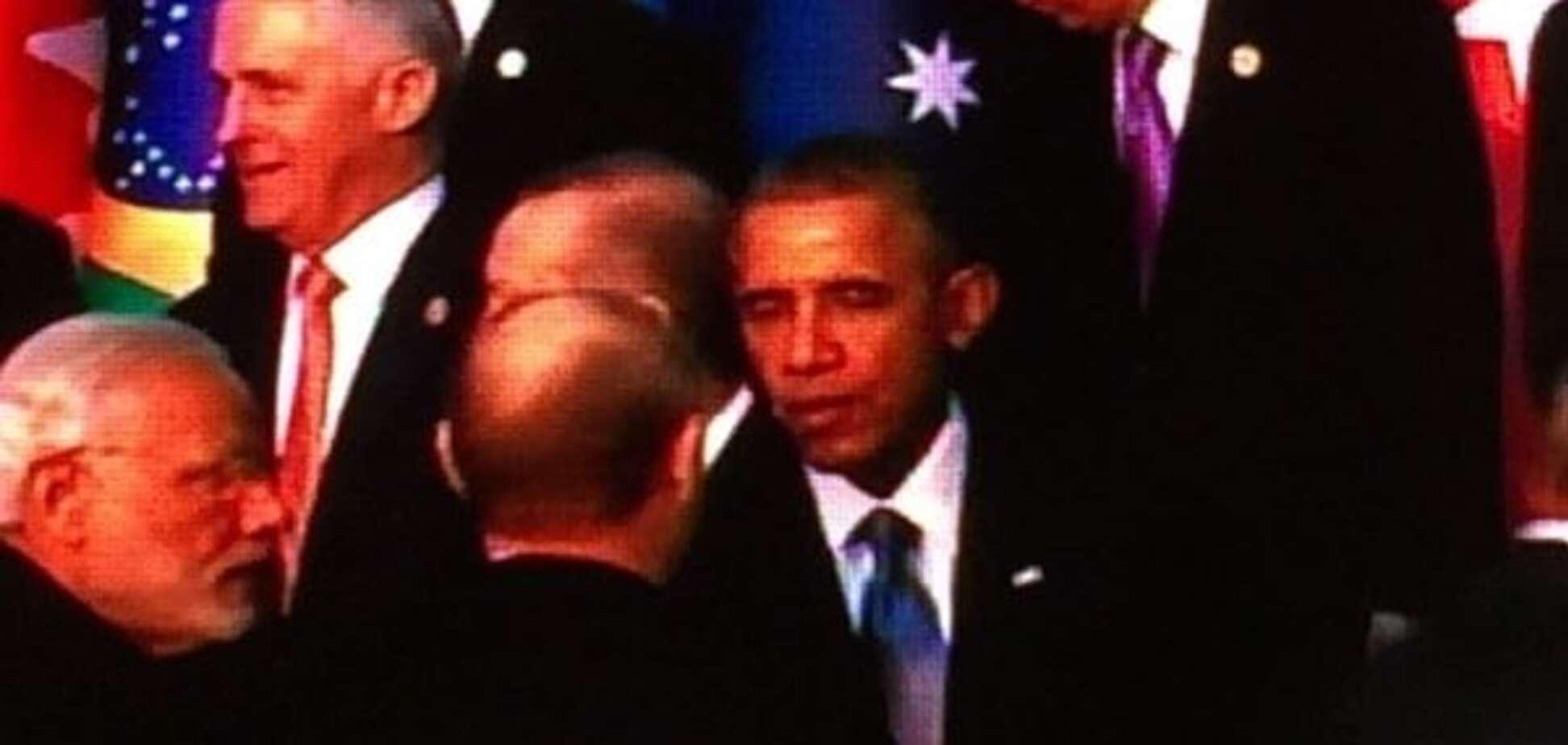 Обама потиснув руку Путіну на саміті G20: фотофакт