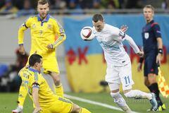Словения - Украина - 1-1: видео голов