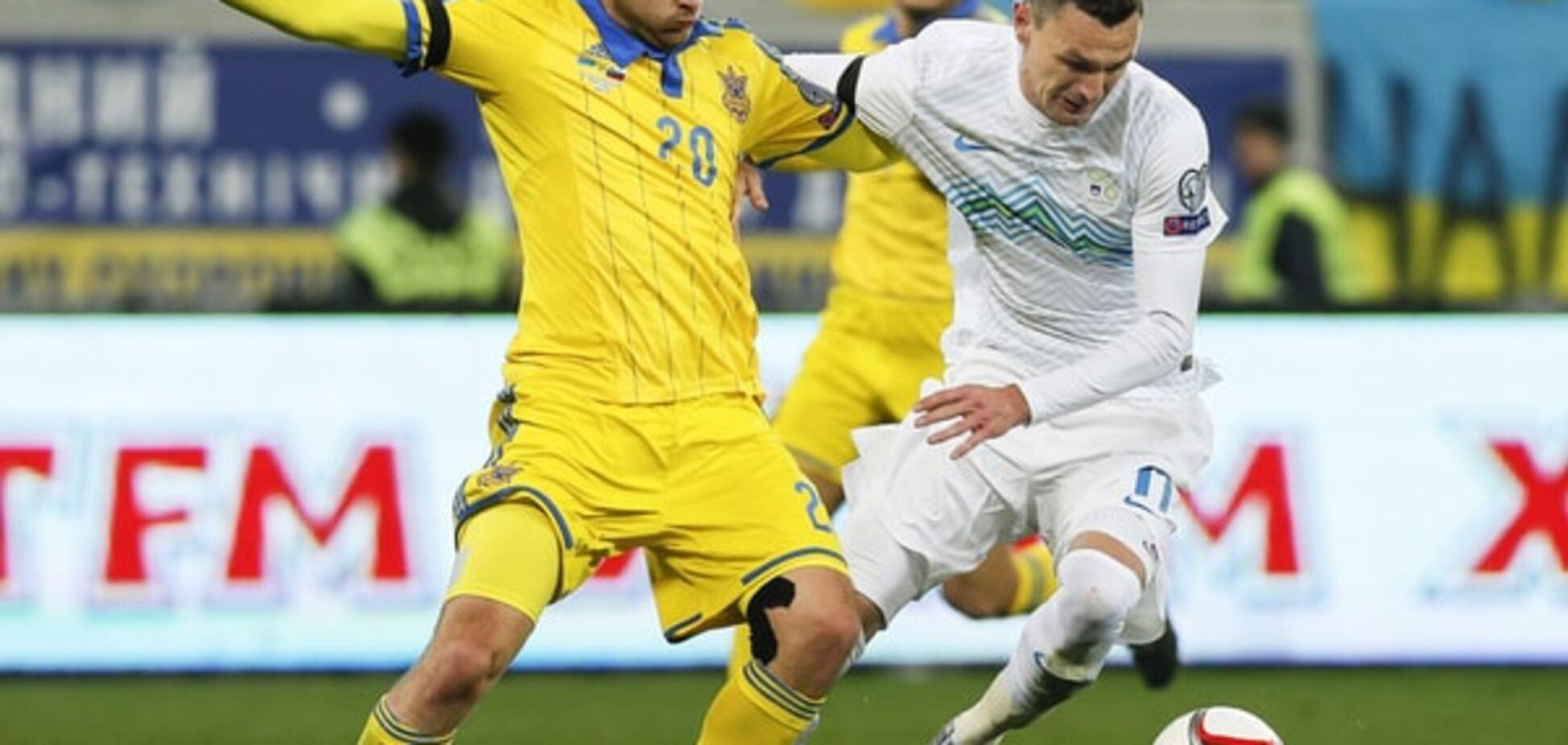Нападающий Словении считает украинцев провокаторами