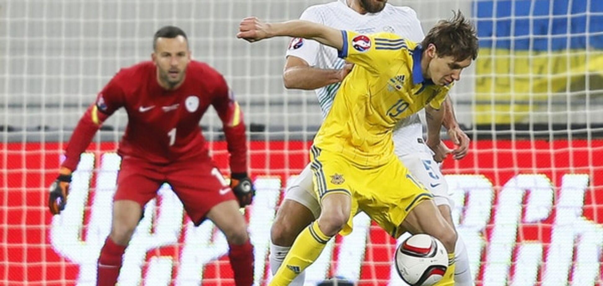 Вратарь сборной Словении ошарашил поступком после матча с Украиной