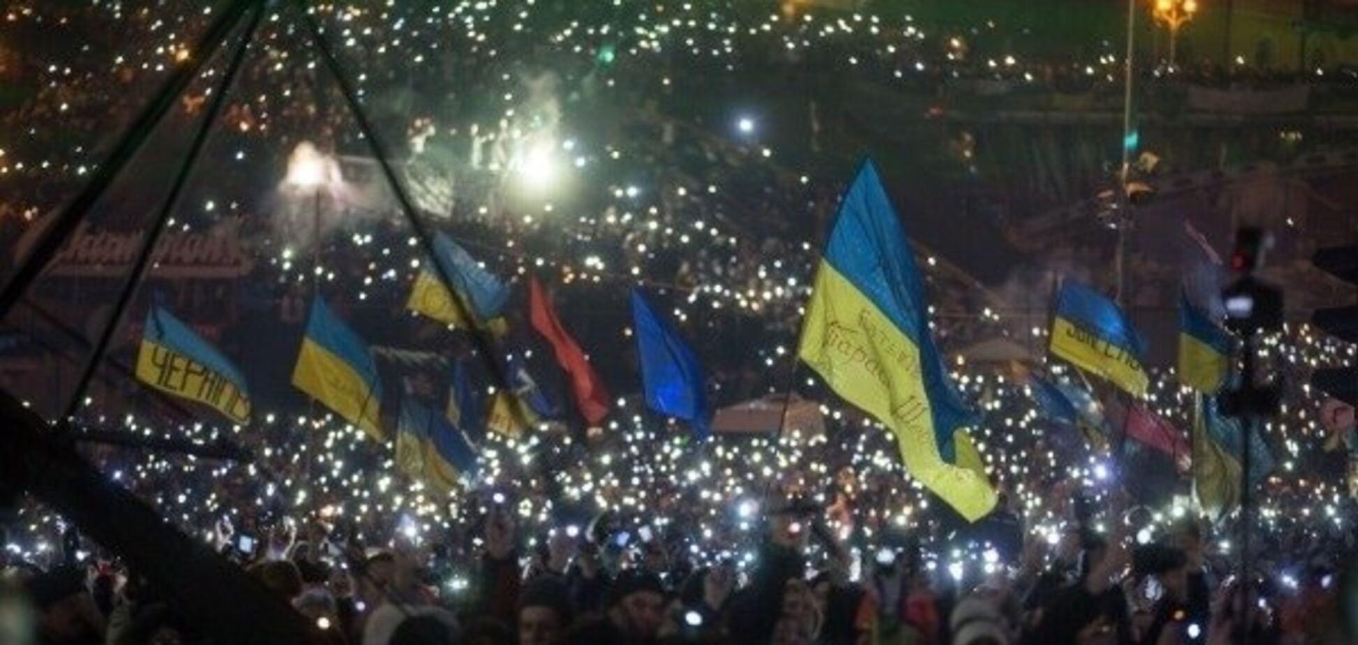 'Танцы на костях': концерт на Майдане Независимости начался с криков 'Ганьба!'