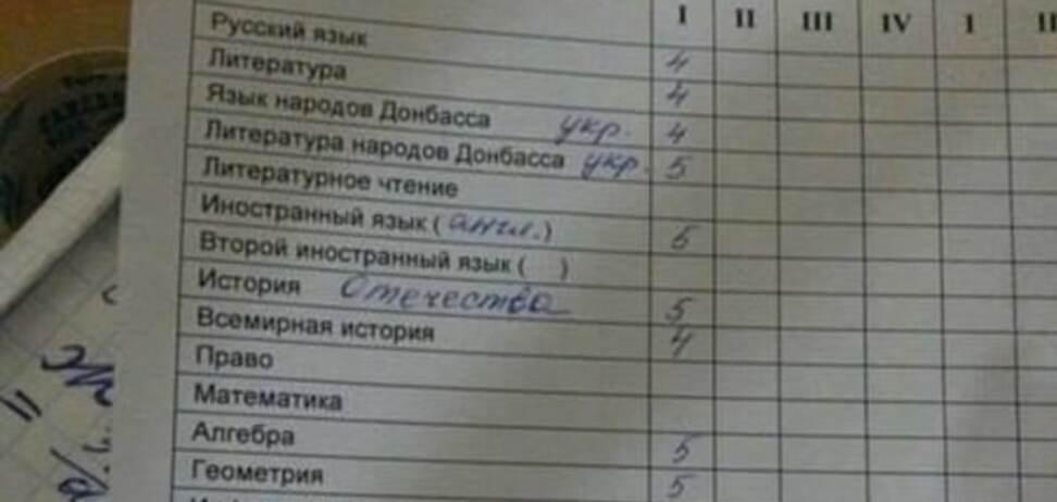 В школах 'ДНР' выдумали 'язык народов Донбасса': фотофакт