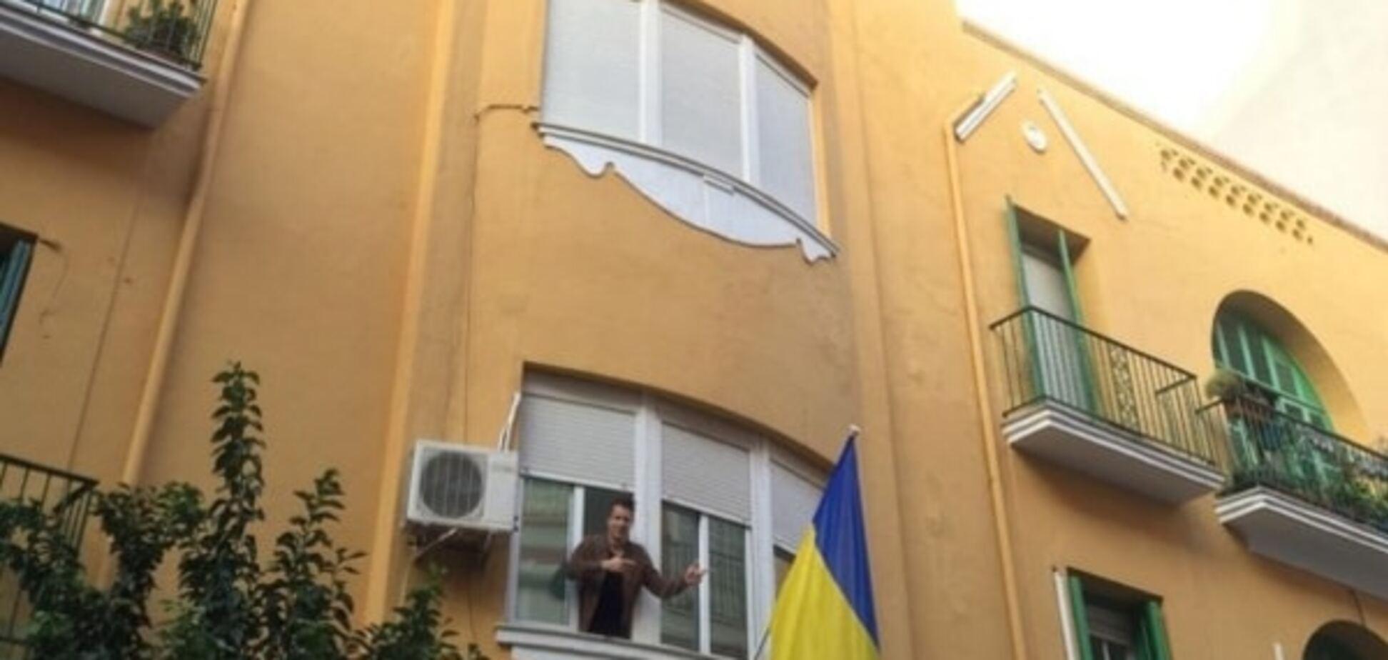 Коноплянка показал Испании, как любит Украину: патриотическое фото