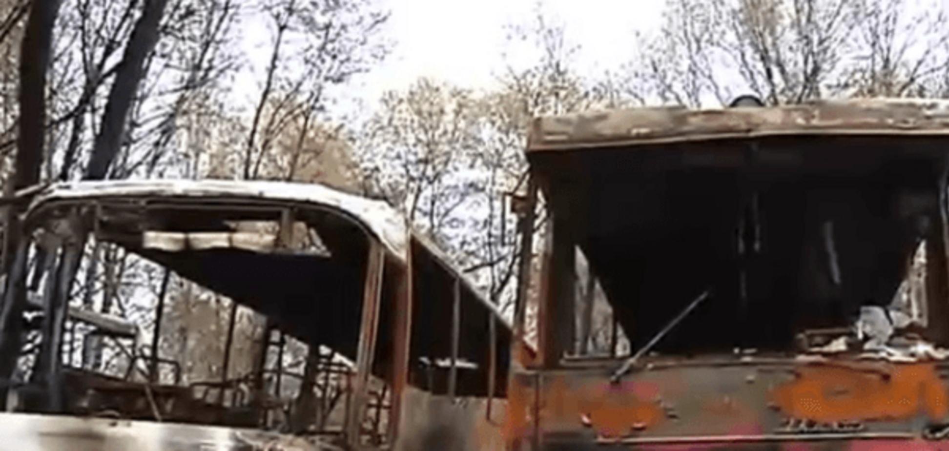 Мільйон гривень дотла: на Житомирщині автобуси закидали 'коктейлями Молотова'