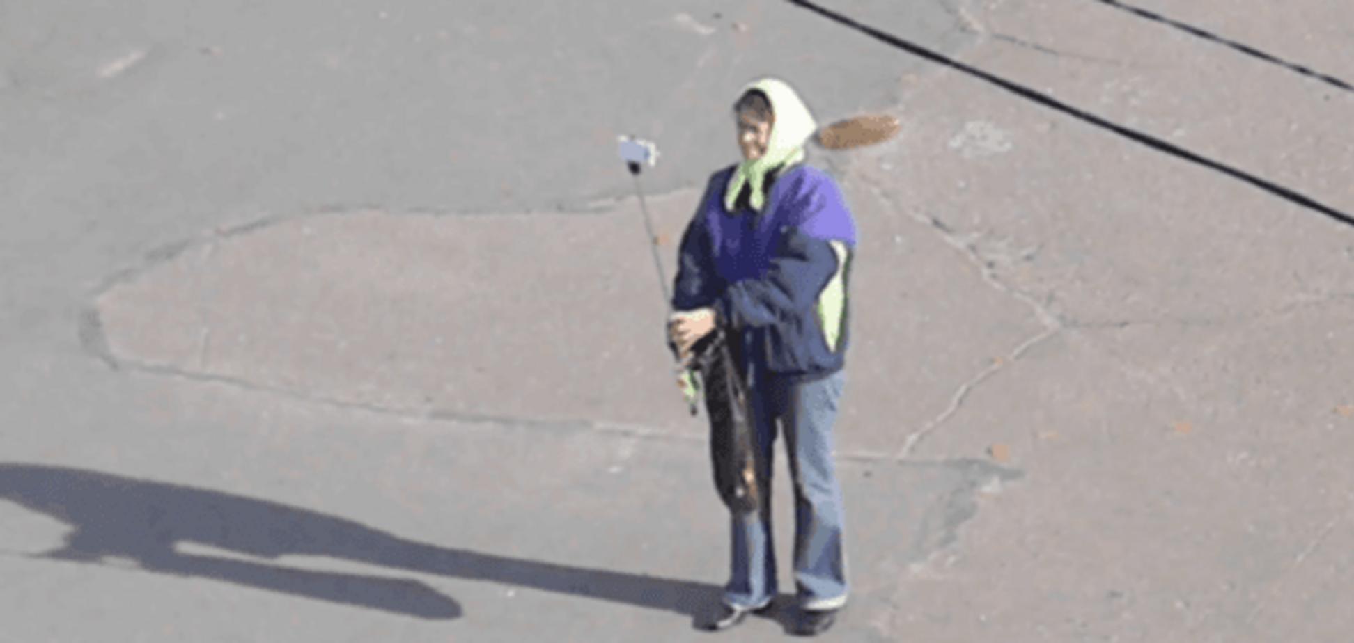 Відео черкаської пенсіонерки з селфі-палицею 'підірвало' мережу