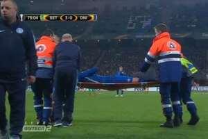 Форварда 'Днепра' унесли на носилках с матча Лиги Европы