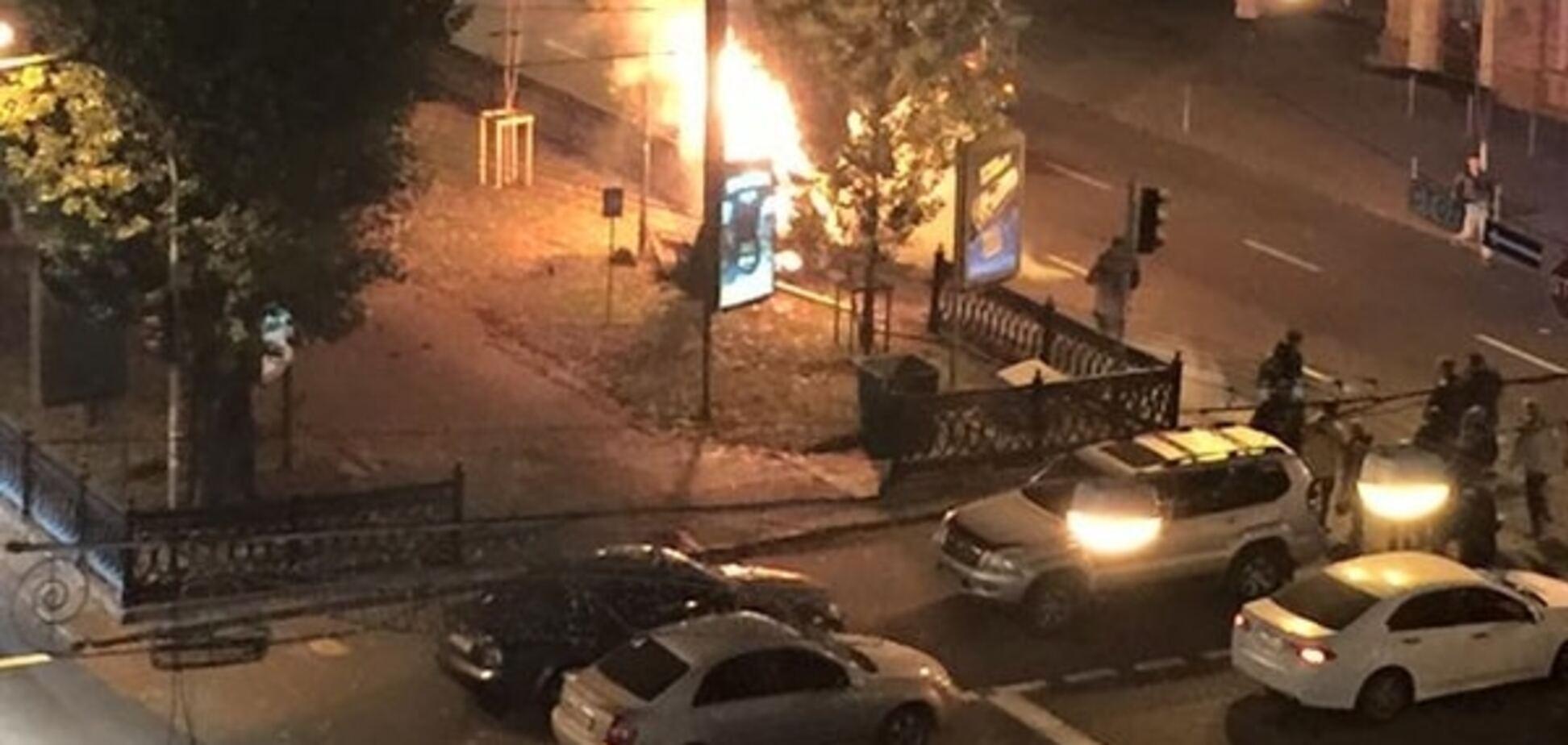 Стала відома причина пожежі в центрі Києва: опубліковані фото і відео