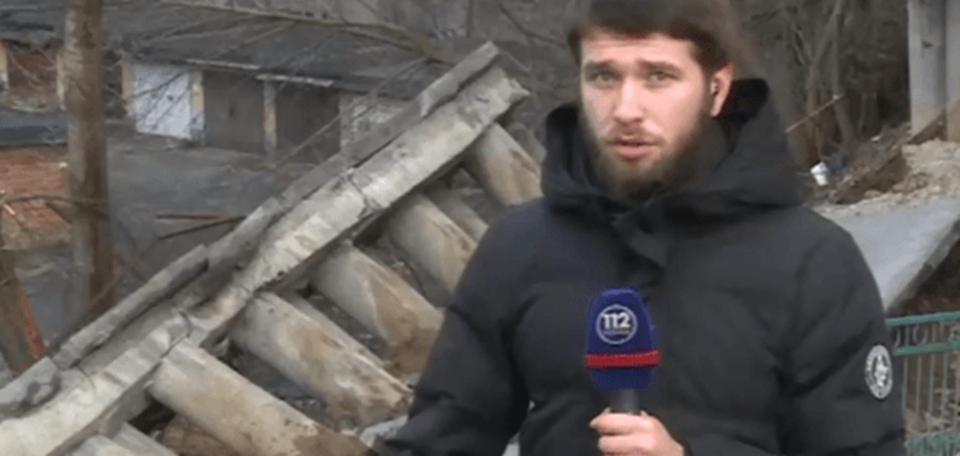 НП в Києві: обвалився фасад житлового будинку