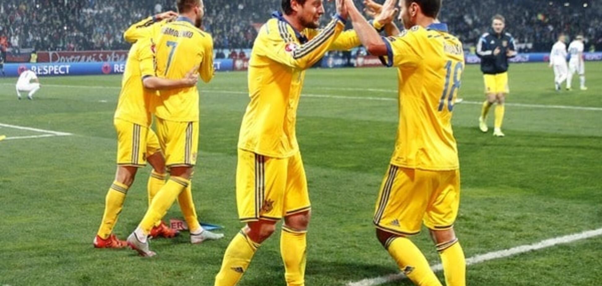 Україна обійшла Росію в рейтингу збірних Євро-2016