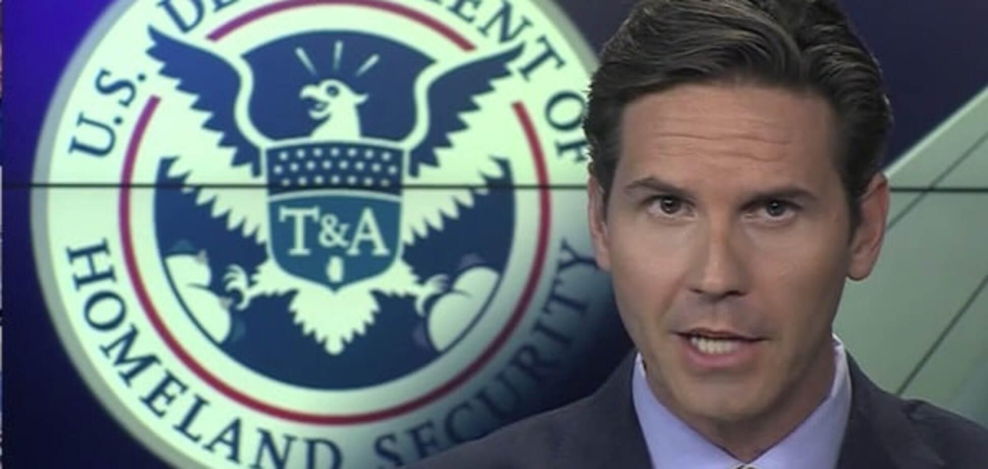 NBC показав в ефірі пікантний прапор Міністерства безпеки США з жіночими принадами