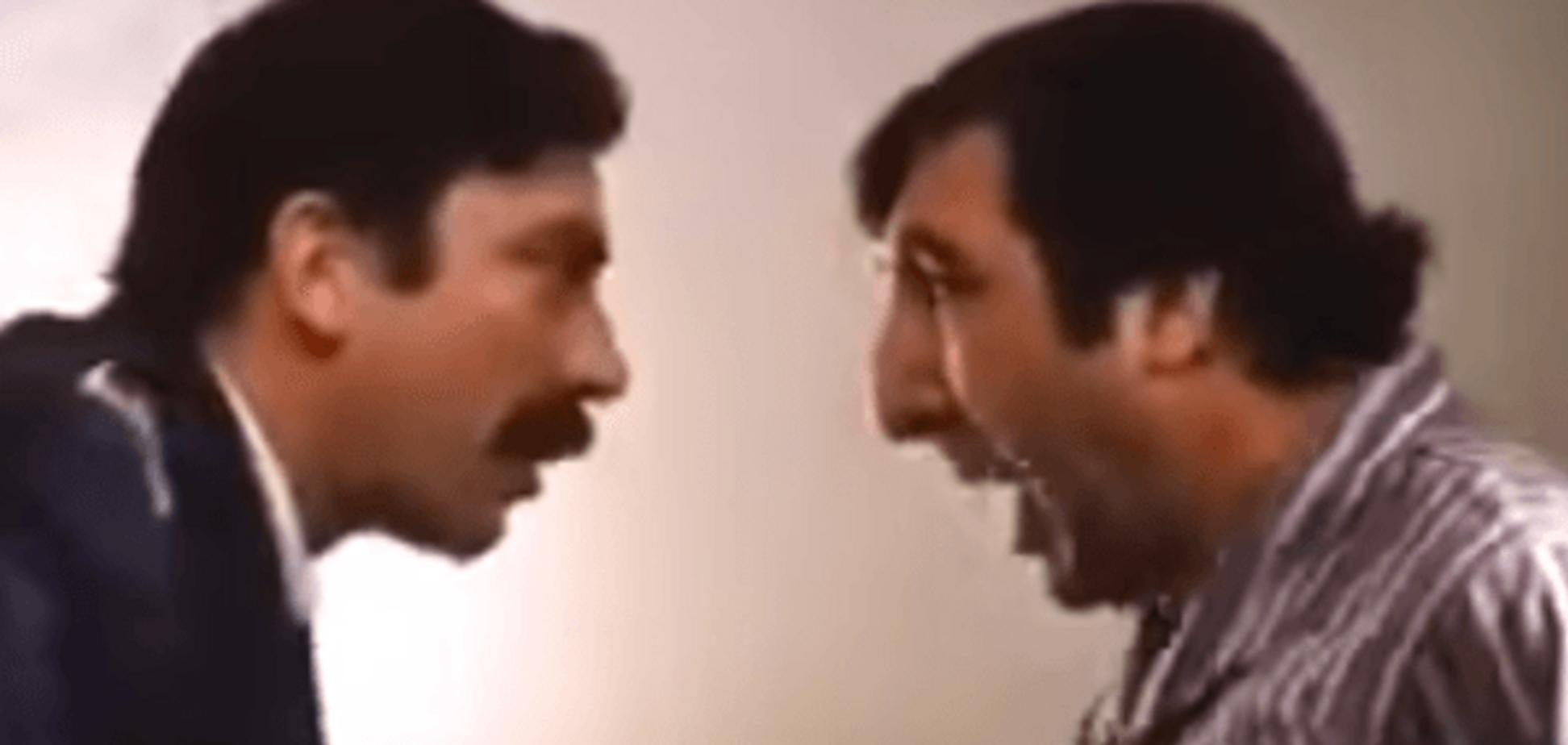 У мережі з'явилося 'альтернативне відео' перепалки Авакова і Саакашвілі