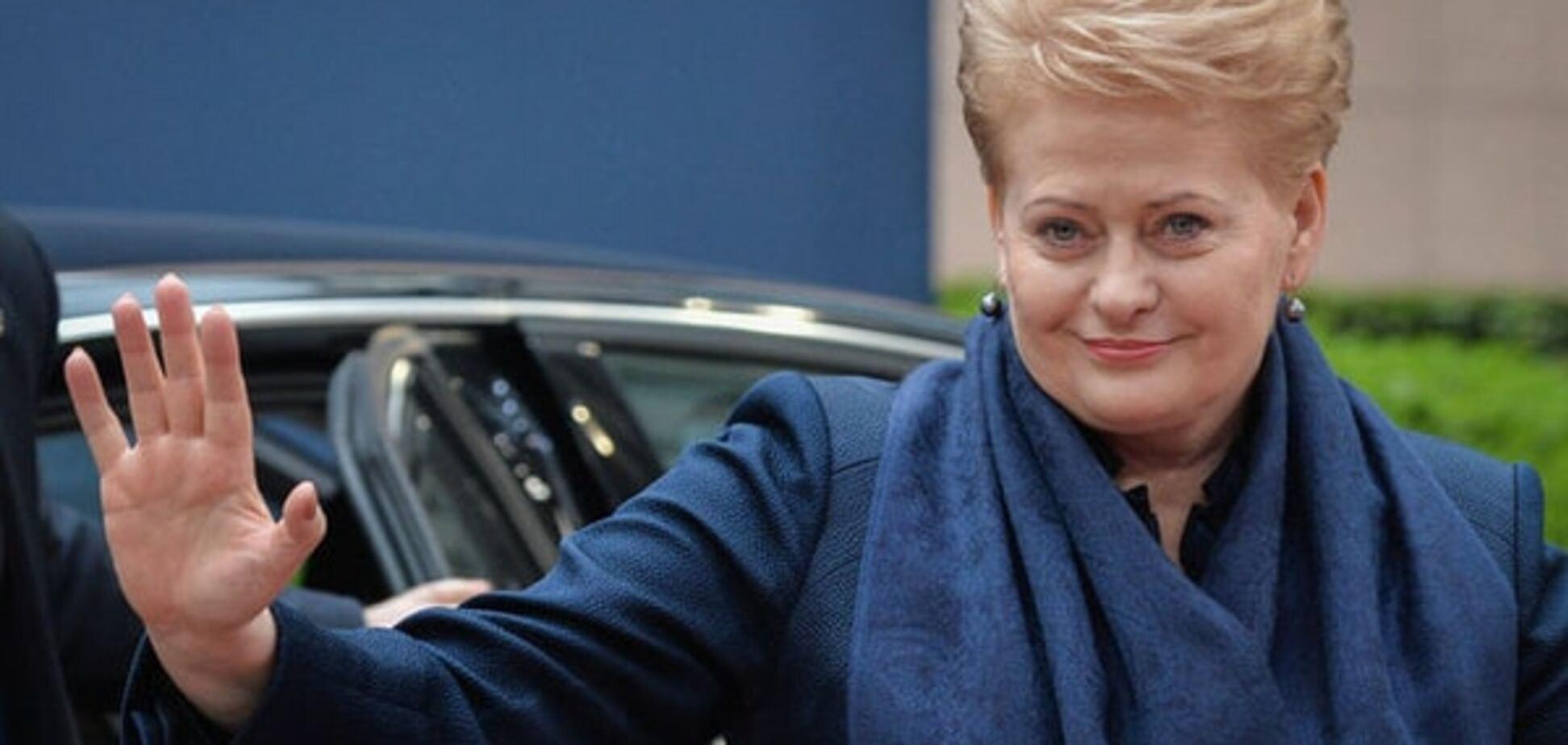 Грібаускайте висміяла незграбність відповідних санкцій Росії