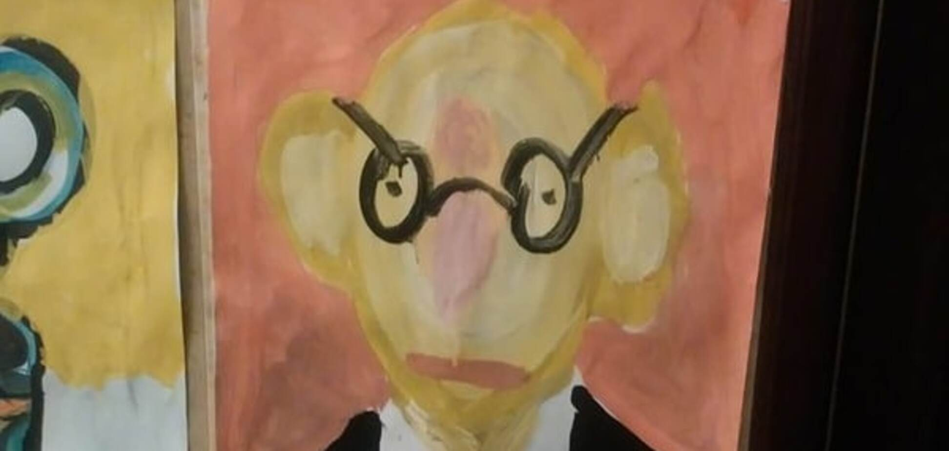 У соцмережі показали 'портрет Яценюка', намальований дітьми: фотофакт