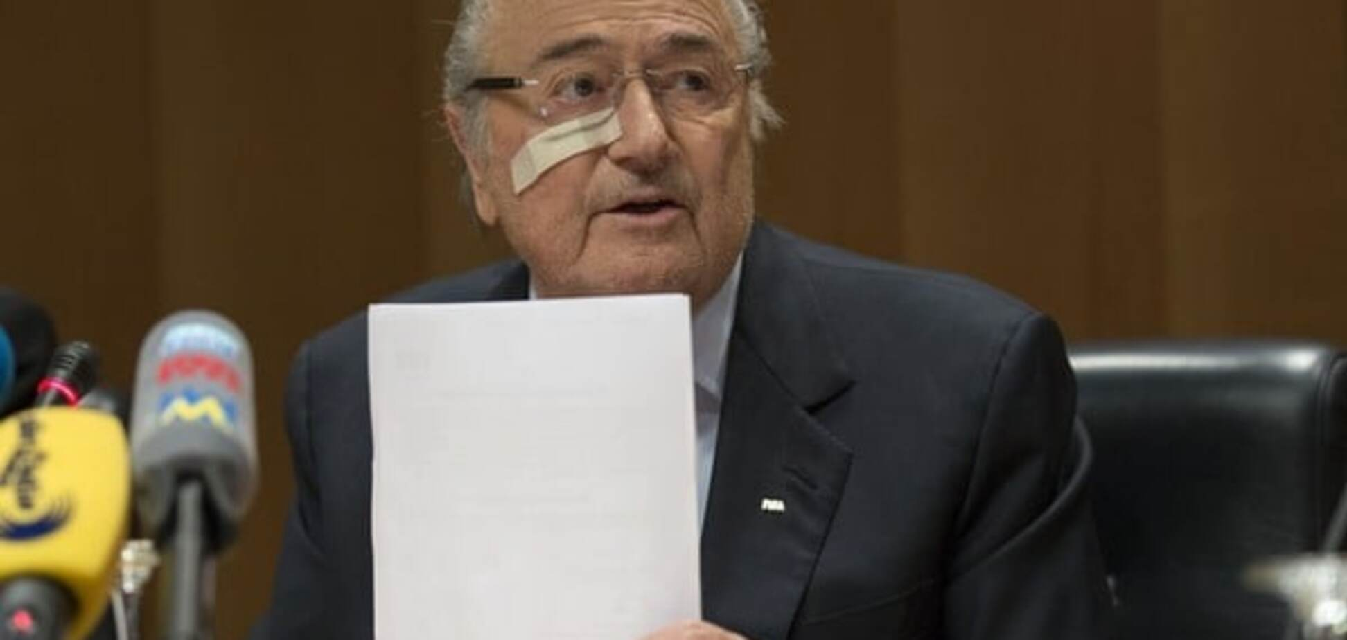 Официально: президент ФИФА Блаттер заявил об уходе из футбола