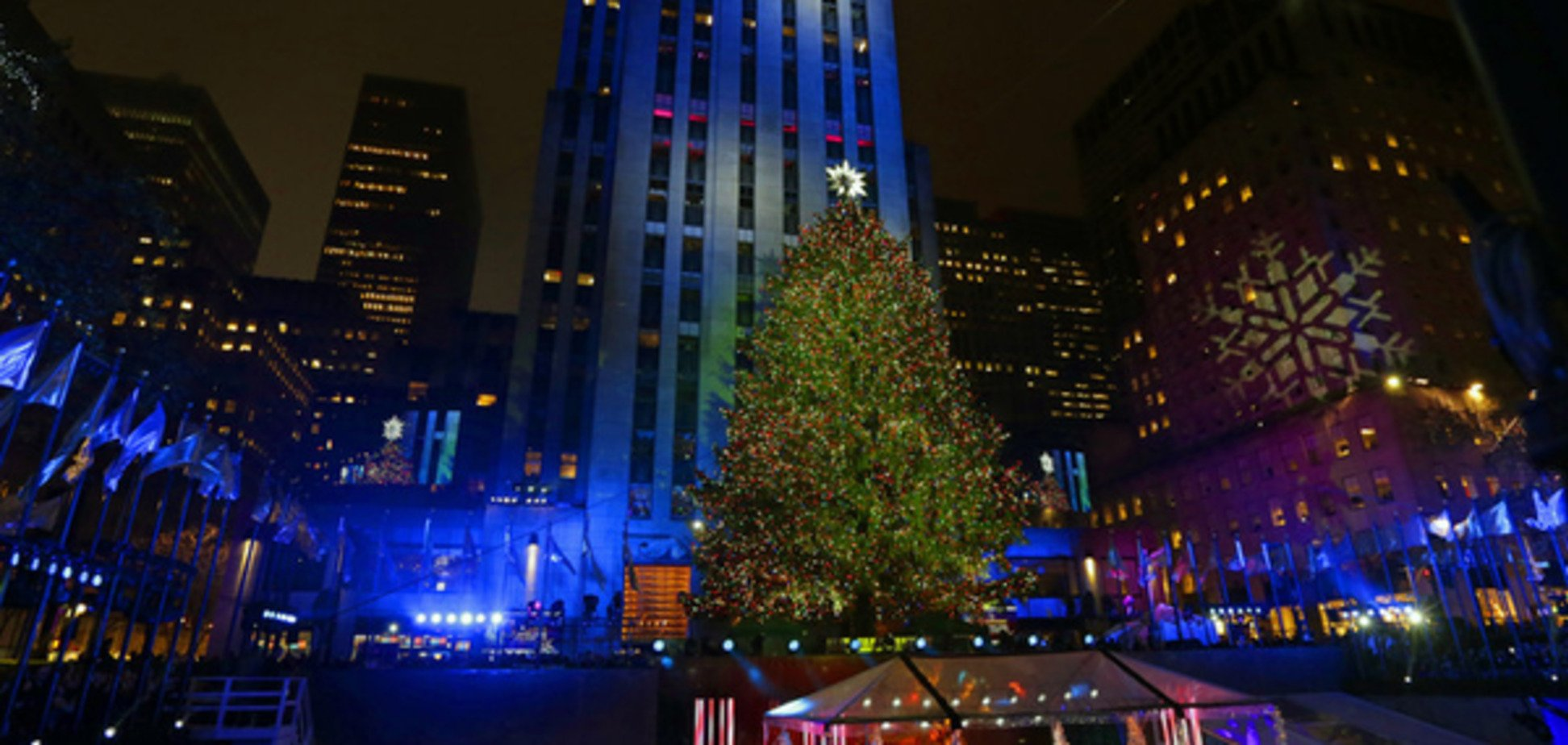 У Нью-Йорку запалили головну різдвяну ялинку: опубліковані фото і відео