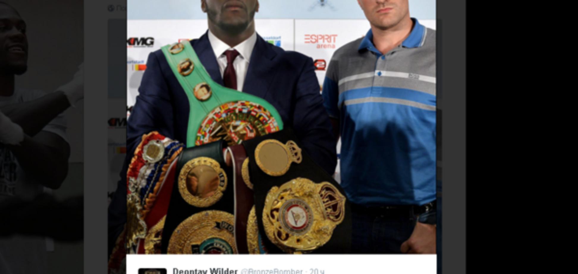 Чемпіон світу яскраво потролив Тайсона Ф'юрі: фото курйозу