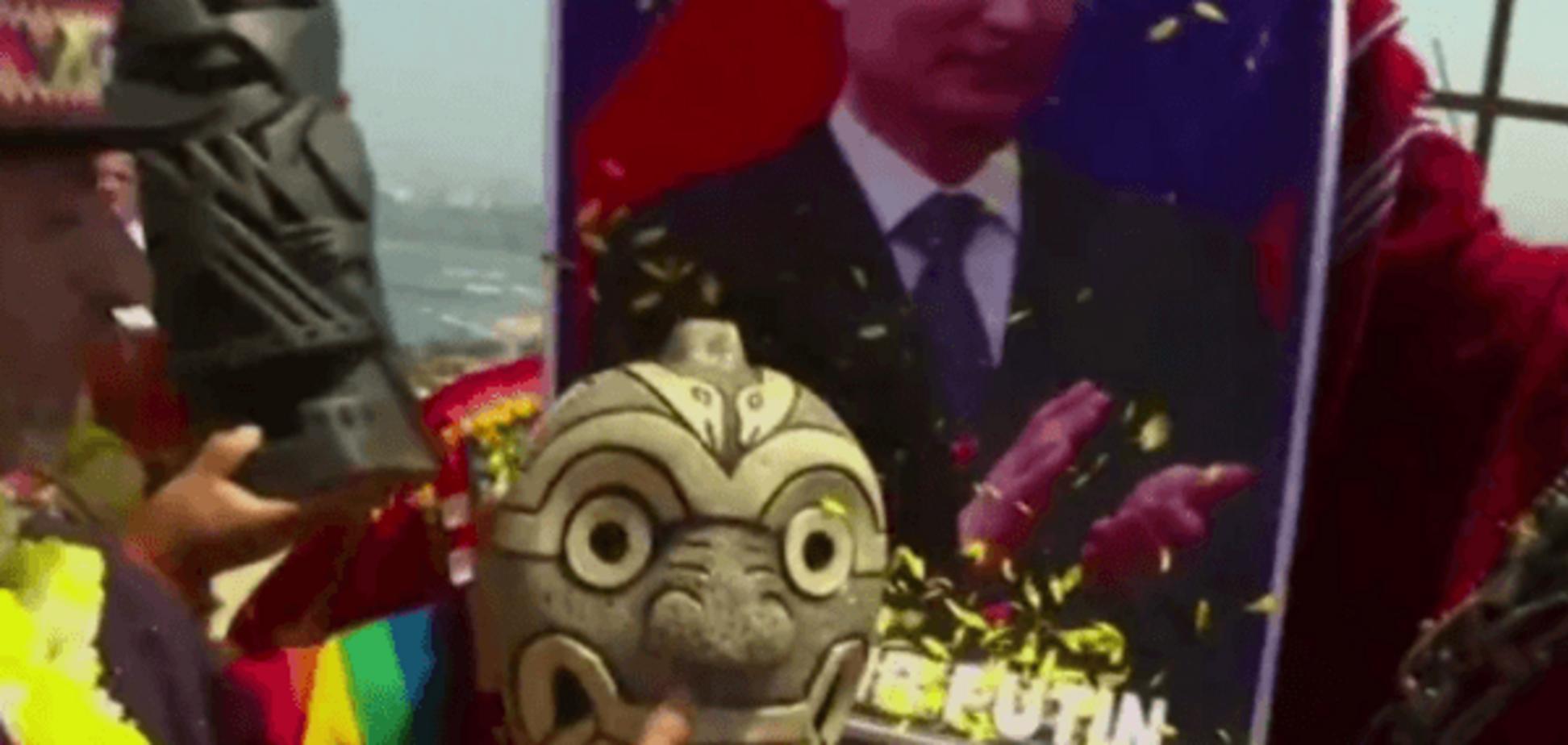 Перуанські шамани зустріли новий рік з портретом Путіна: відеофакт