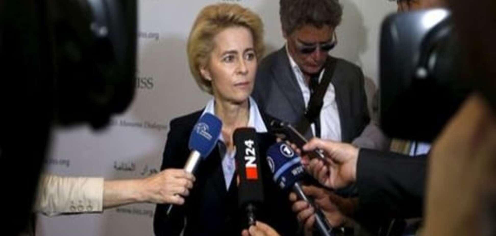 Глава міноборони Німеччини виключила відправку наземних військ у Сирію