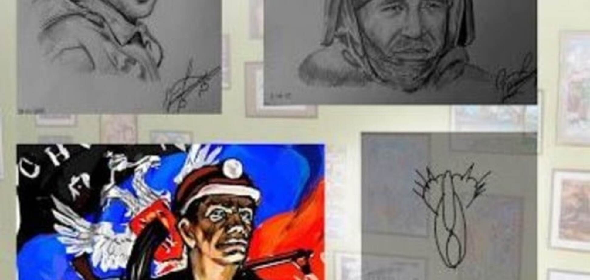 Путін з картиною 'Кішка' став зіркою виставки душевно-хворих у 'ДНР'