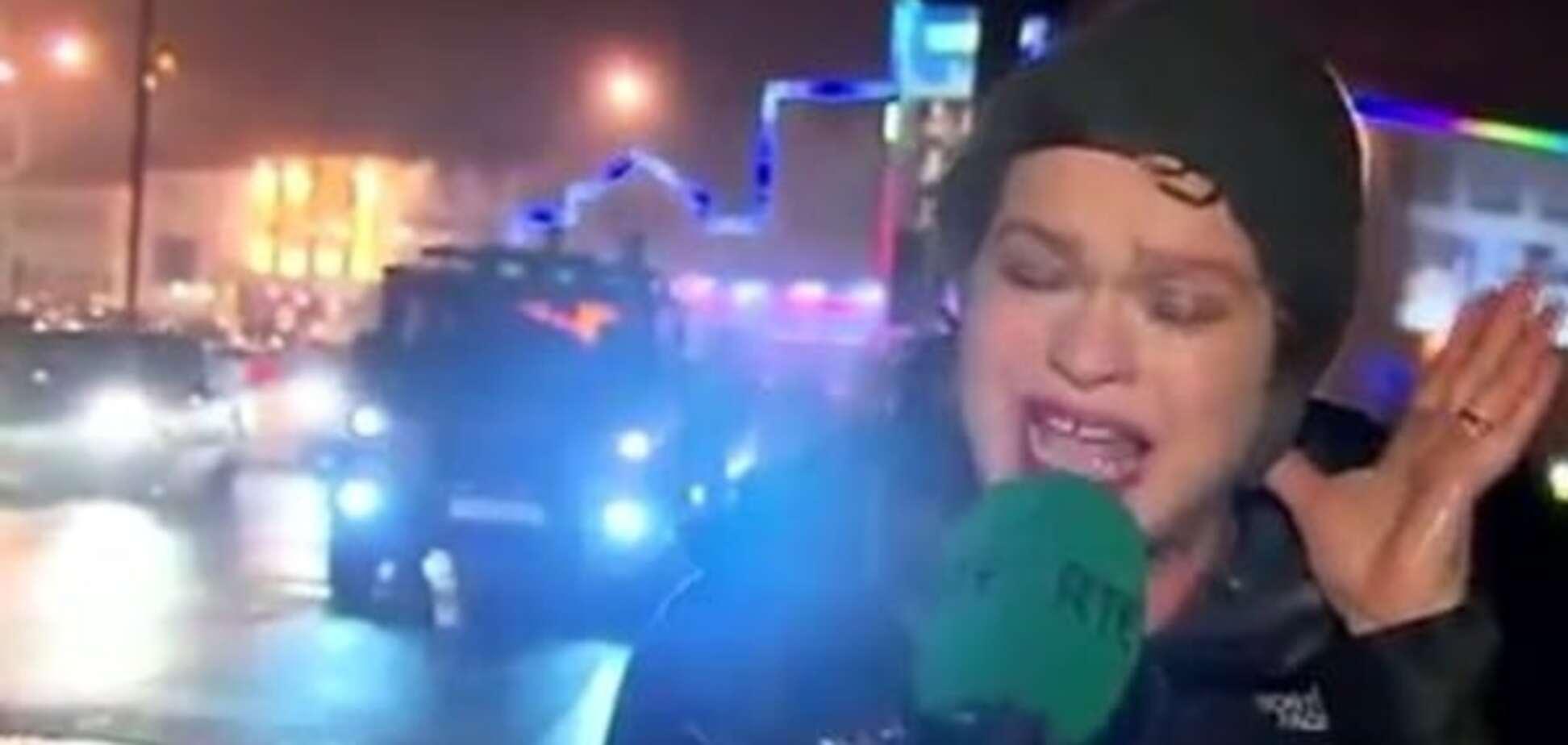 Актриса без Оскара: телеведуча підкорила інтернет гримасами під час урагану