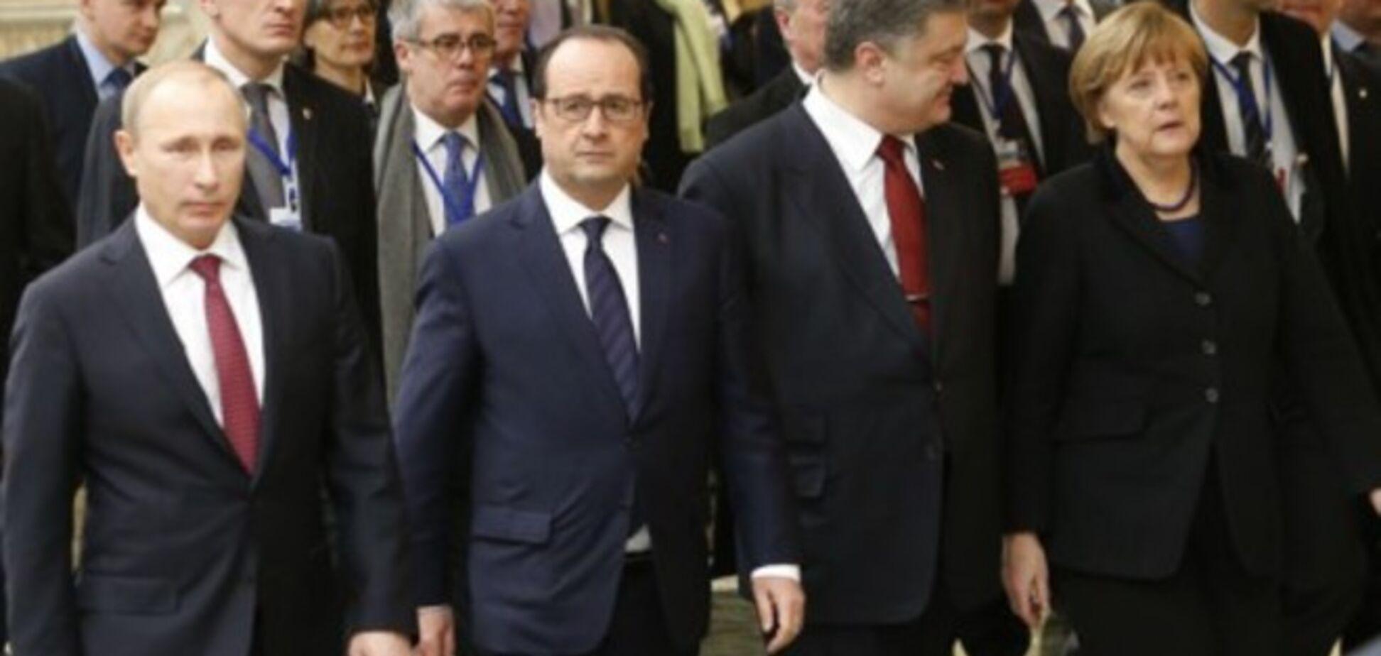 'Нормандская четверка' согласовала документ по Украине