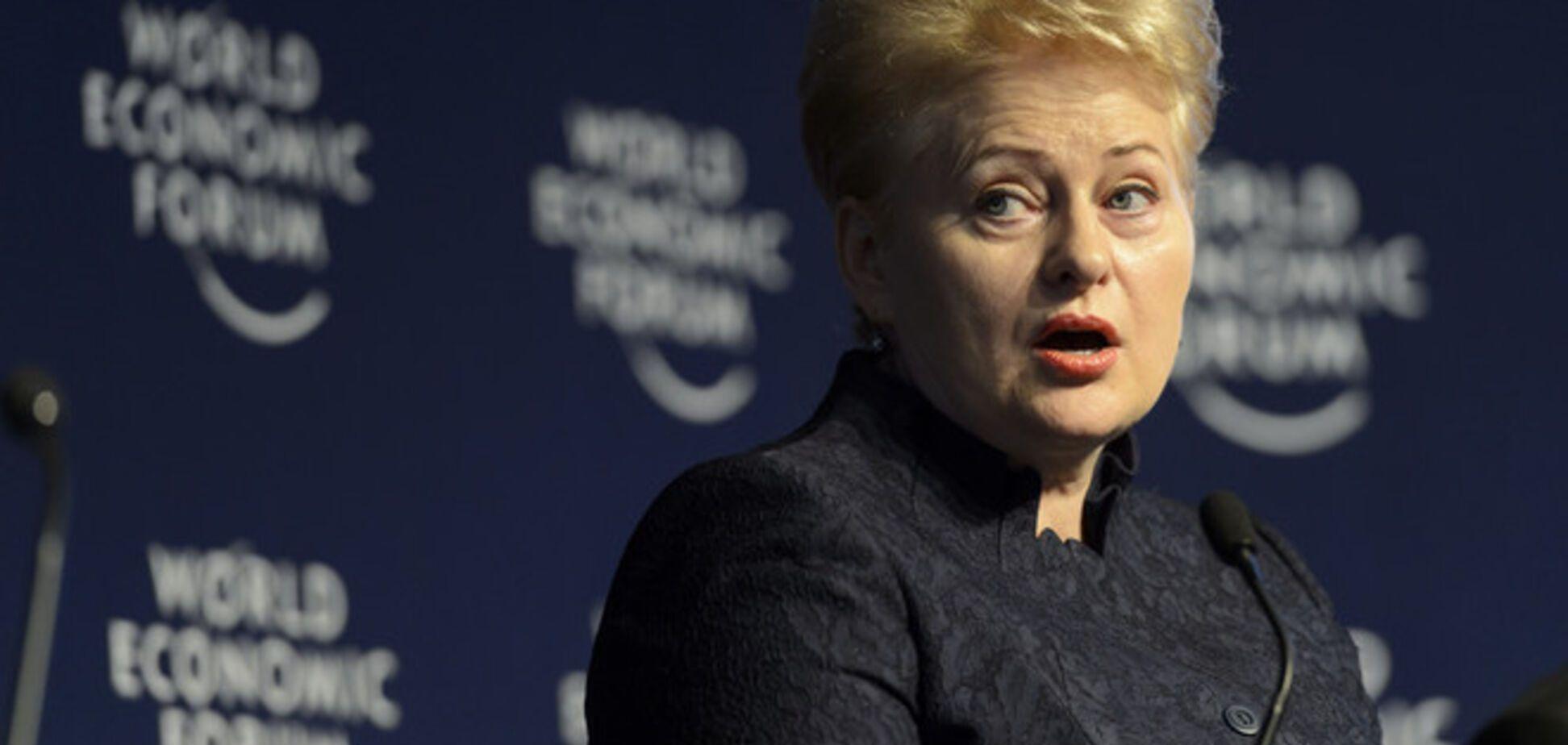 Минское соглашение 'абсолютно слабое': Грибаускайте не увидела решения по главному вопросу