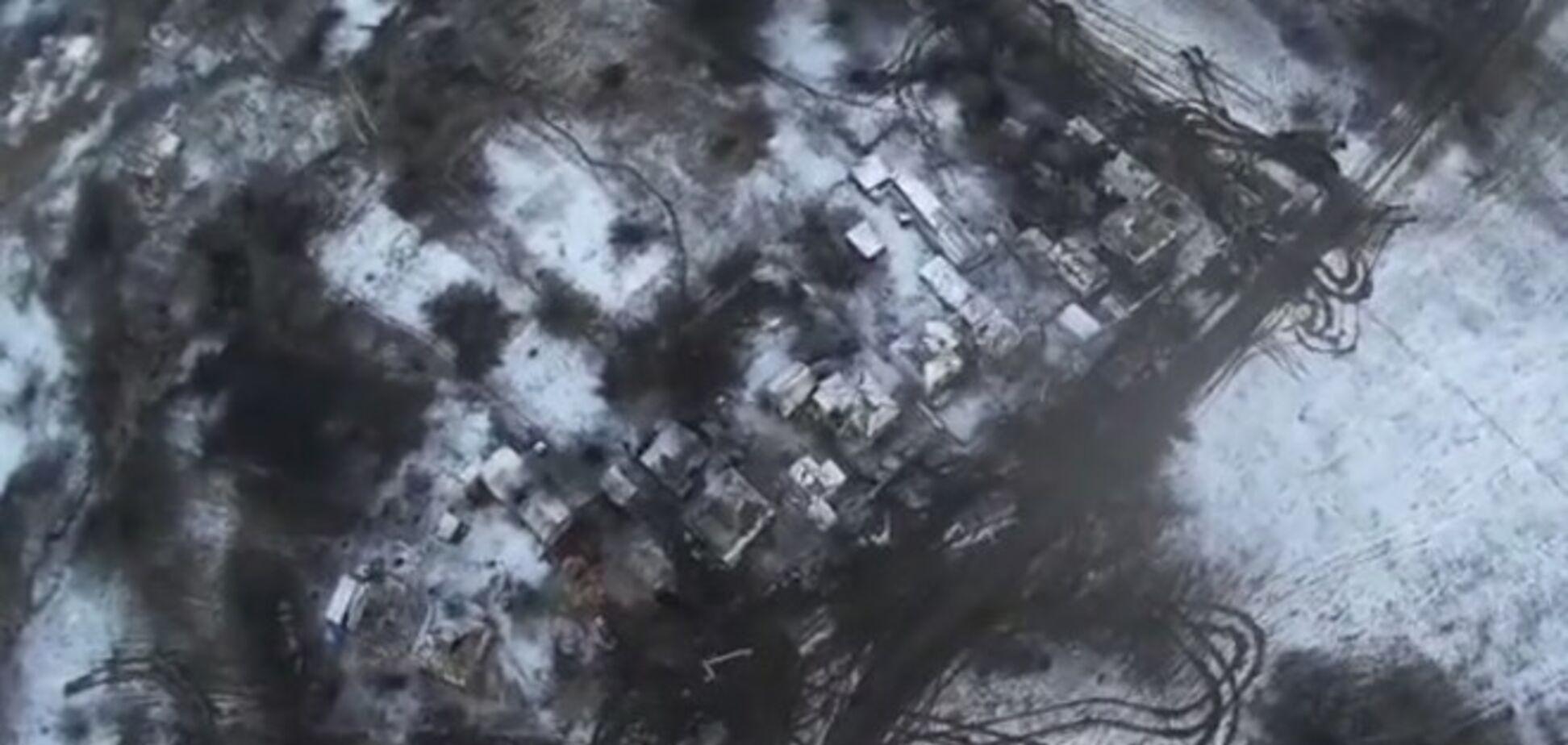 В сети опубликовали видео Дебальцевского плацдарма с высоты птичьего полета