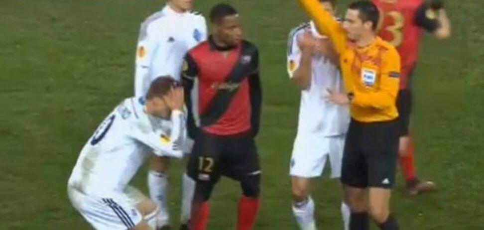 Арбитр учинил расправу над 'Динамо' в матче Лиги Европы: видео беспредела