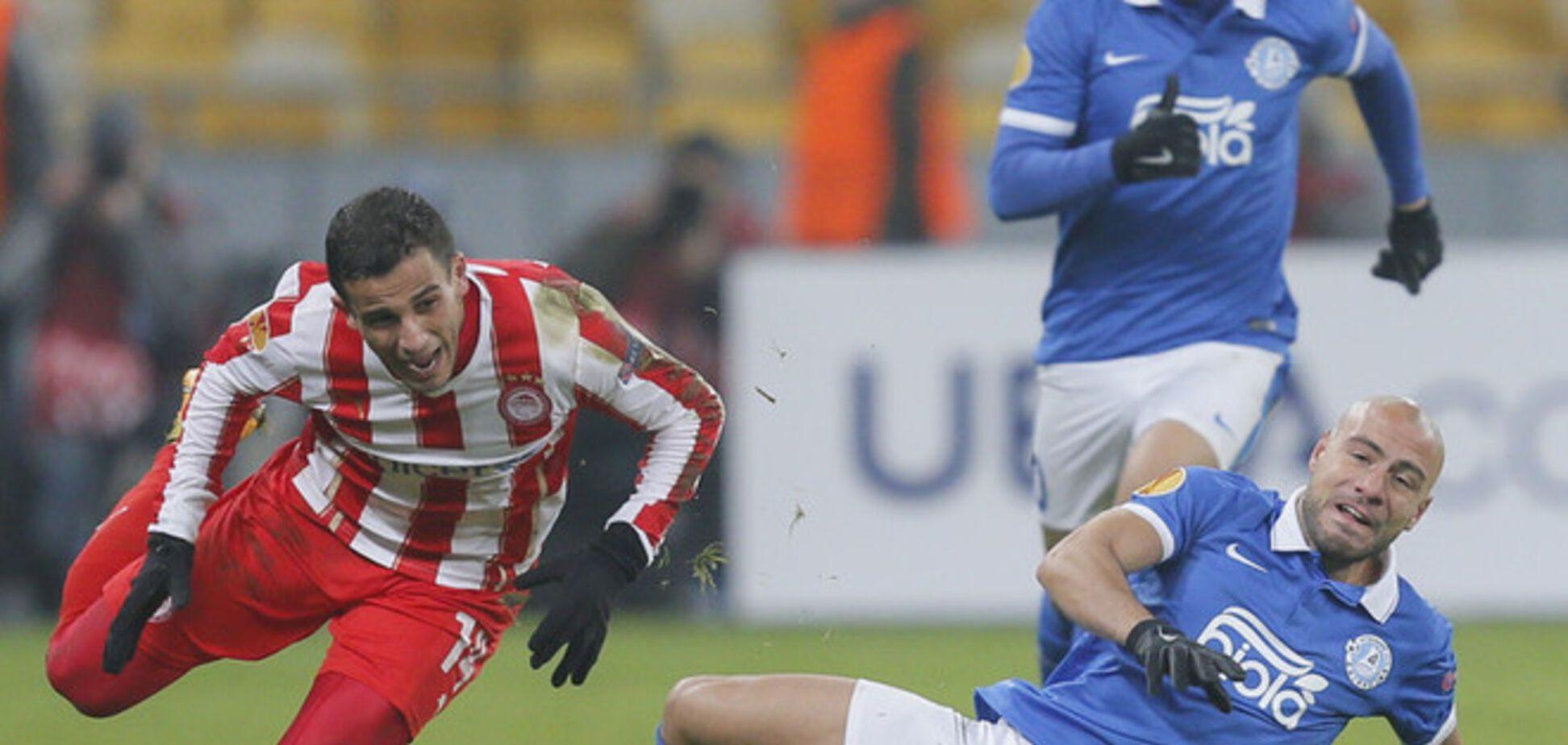 Днепр - Олимпиакос - 2-0: видео-обзор матча