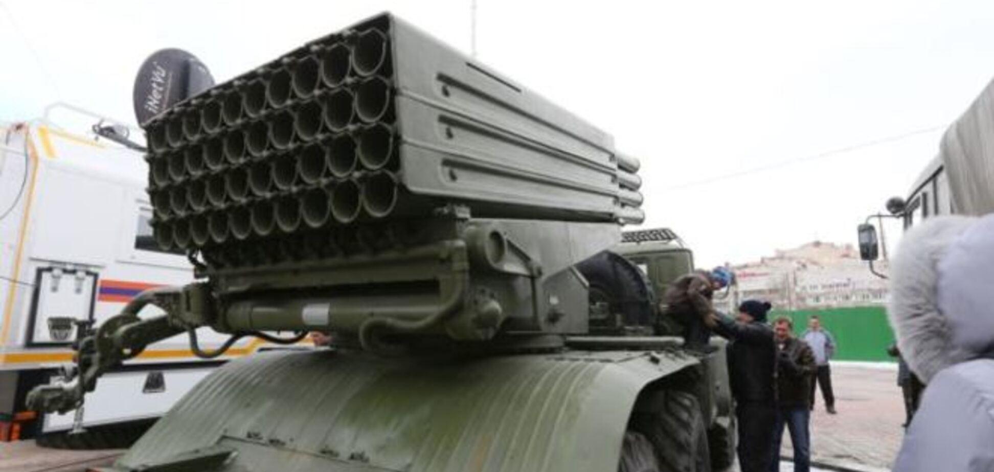 Оккупанты свезли в центр Симферополя 'Грады' и минометы: опубликованы фото