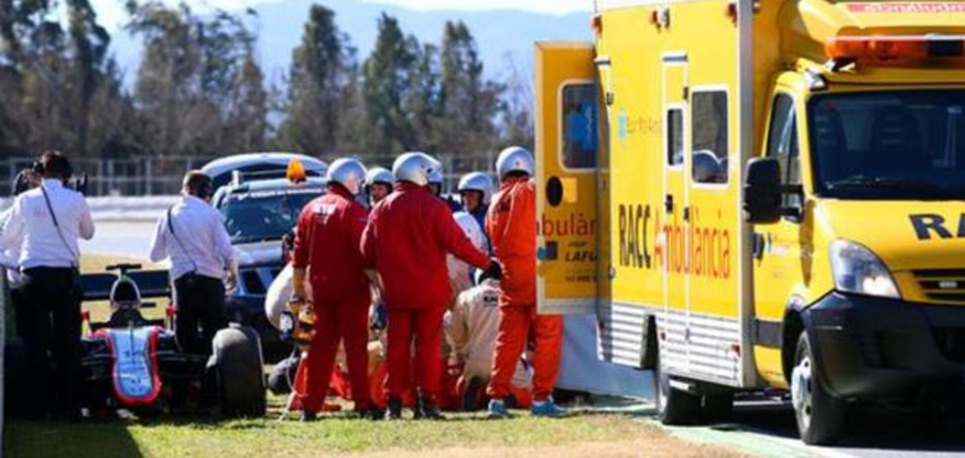 Двукратный чемпион Формулы-1 Алонсо попал в серьезную аварию