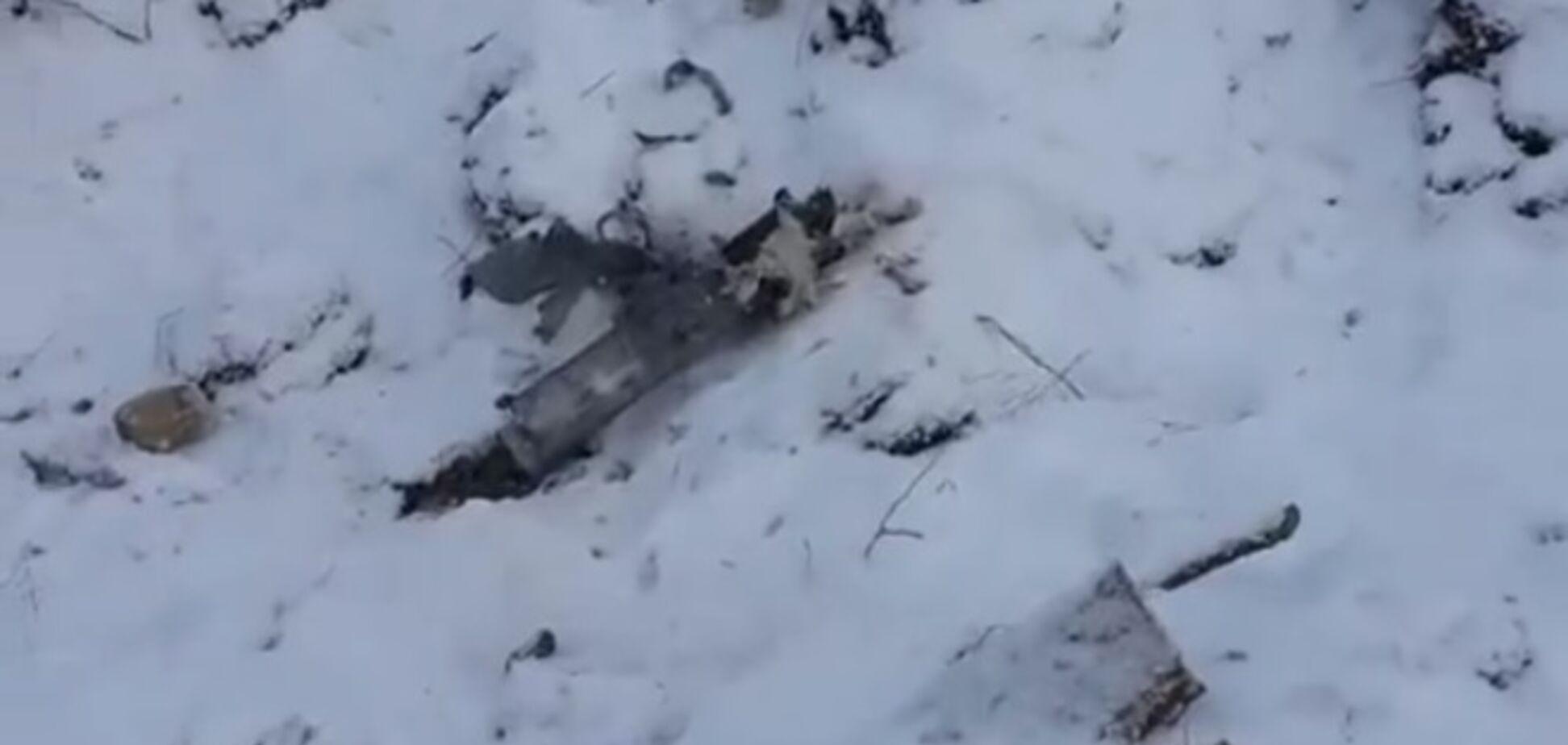 В блиндаж бойцов АТО залетел снаряд 'Града'. Видеофакт