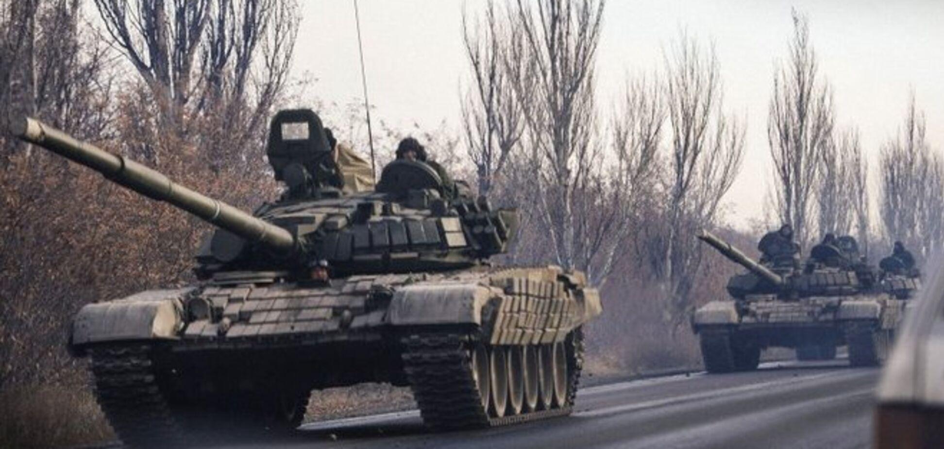 В Горловку зашла колонна российской военной техники