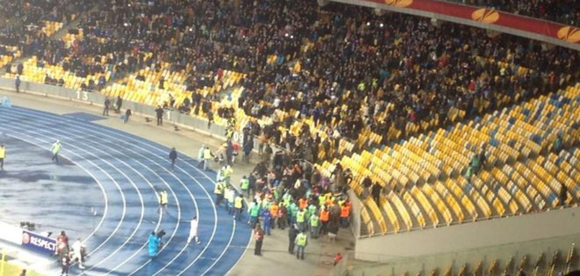 Французькі фанати зірвали матч Динамо - Генгам