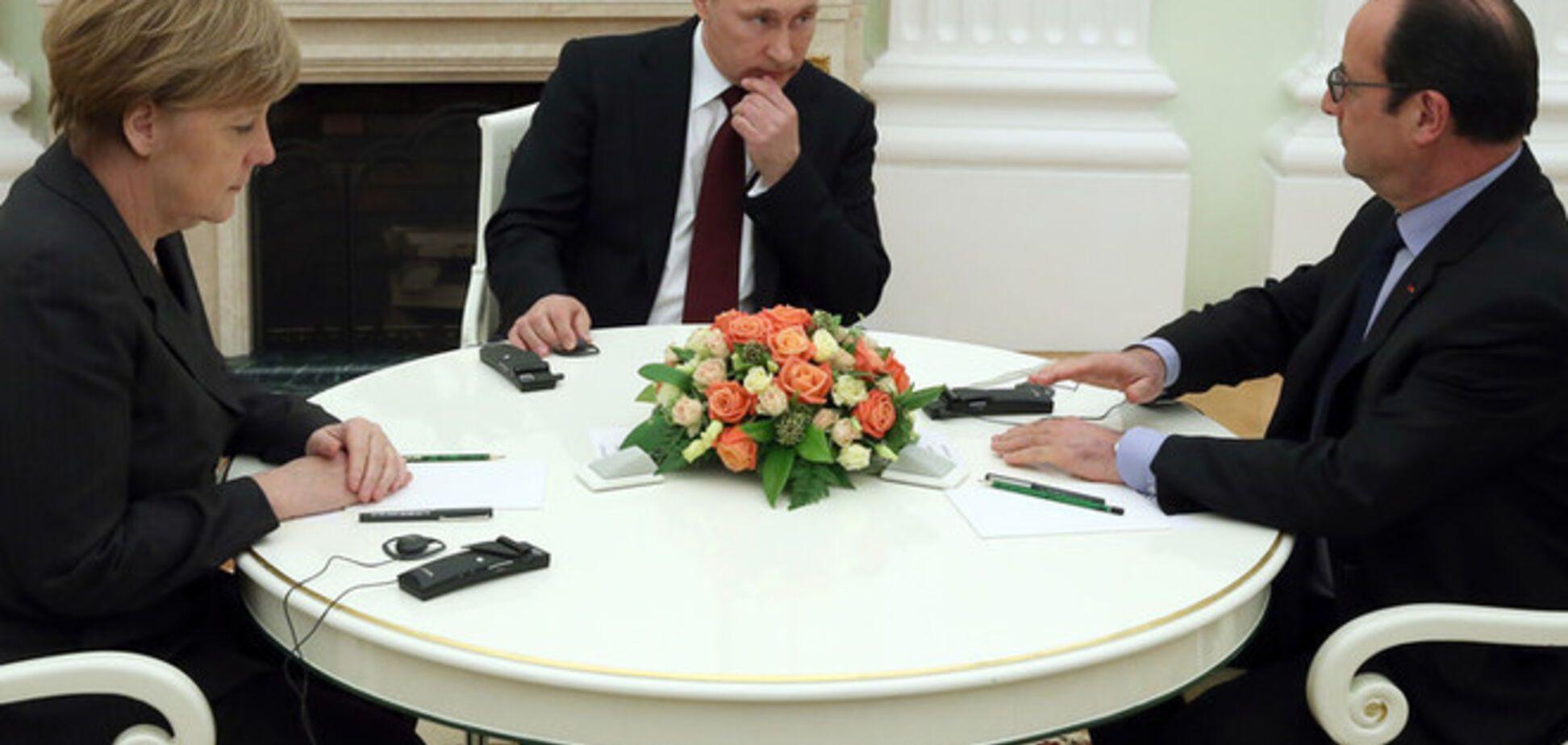 Встреча Путина, Меркель и Олланда: первые результаты переговоров по Донбассу