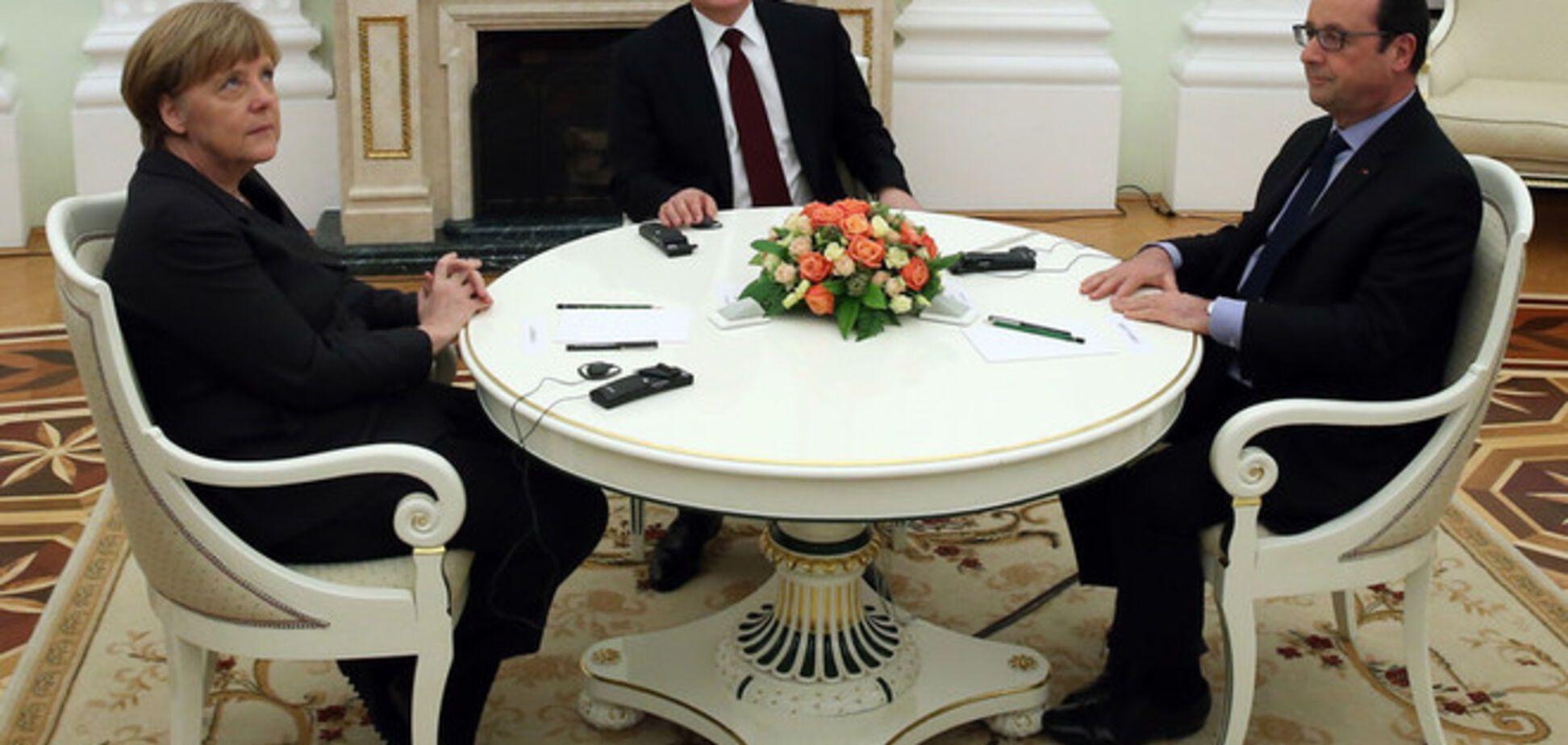 У Путина, Олланда и Меркель прокомментировали переговоры в Кремле по Украине. Опубликованы фото и видео со встречи