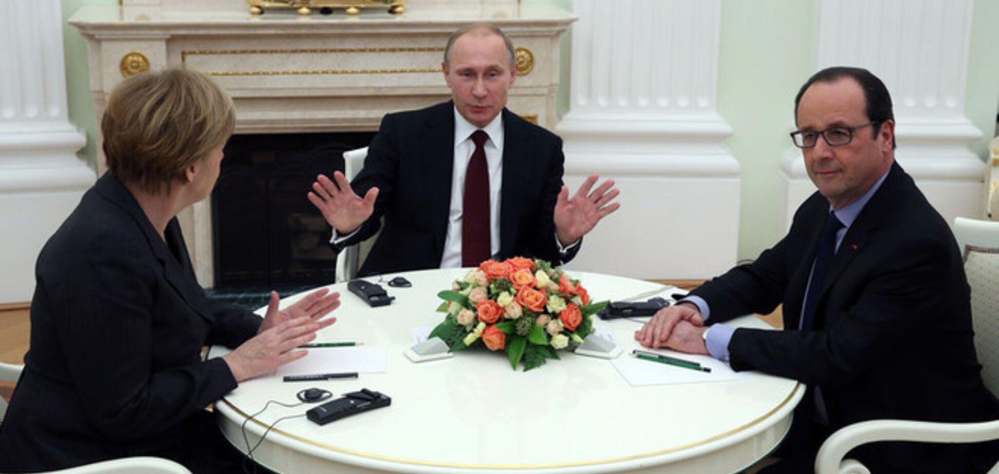 Названы новый план Путина для Донбасса и подробности визита Меркель и Олланда в Киев