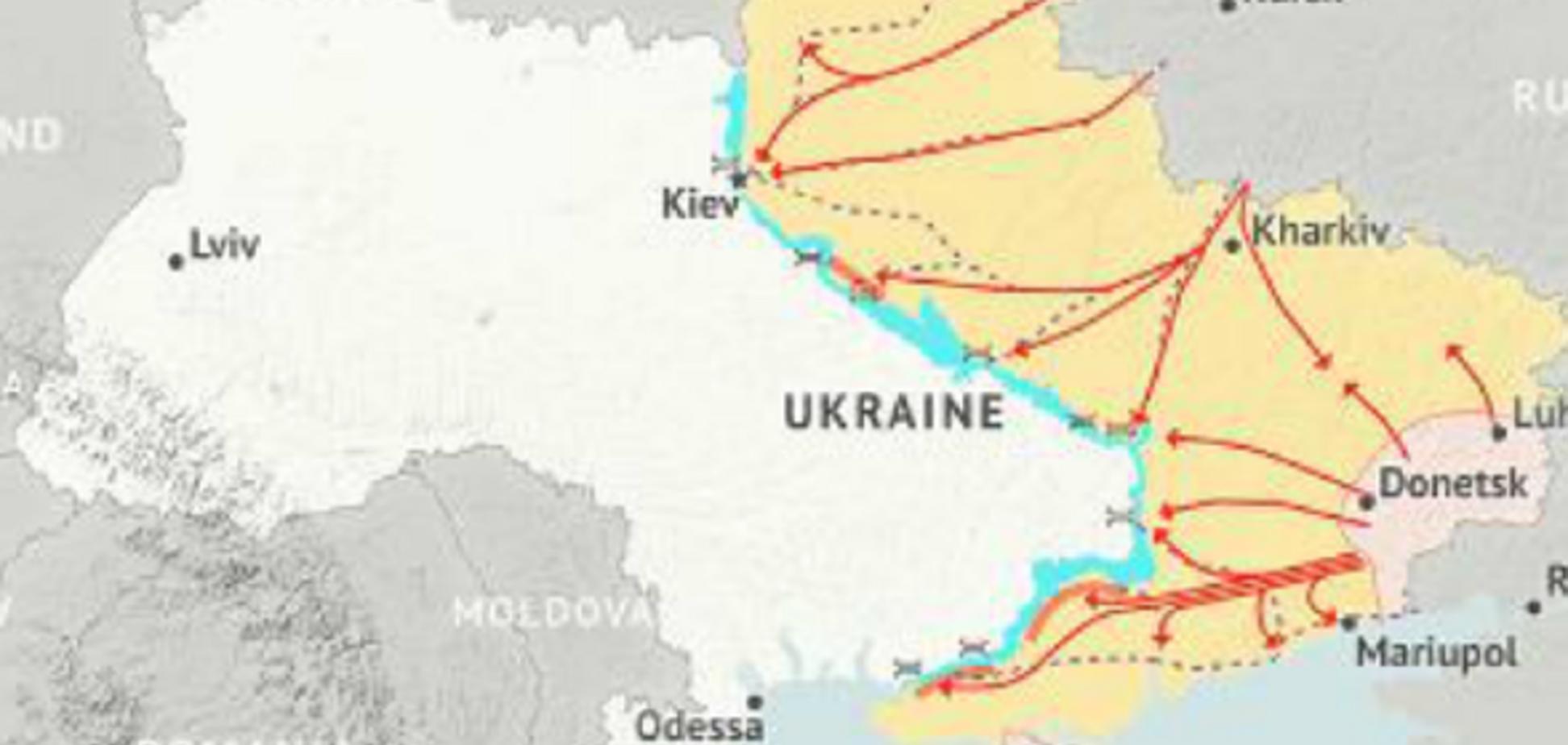 В США допустили попытку оккупации Левобережной Украины Россией