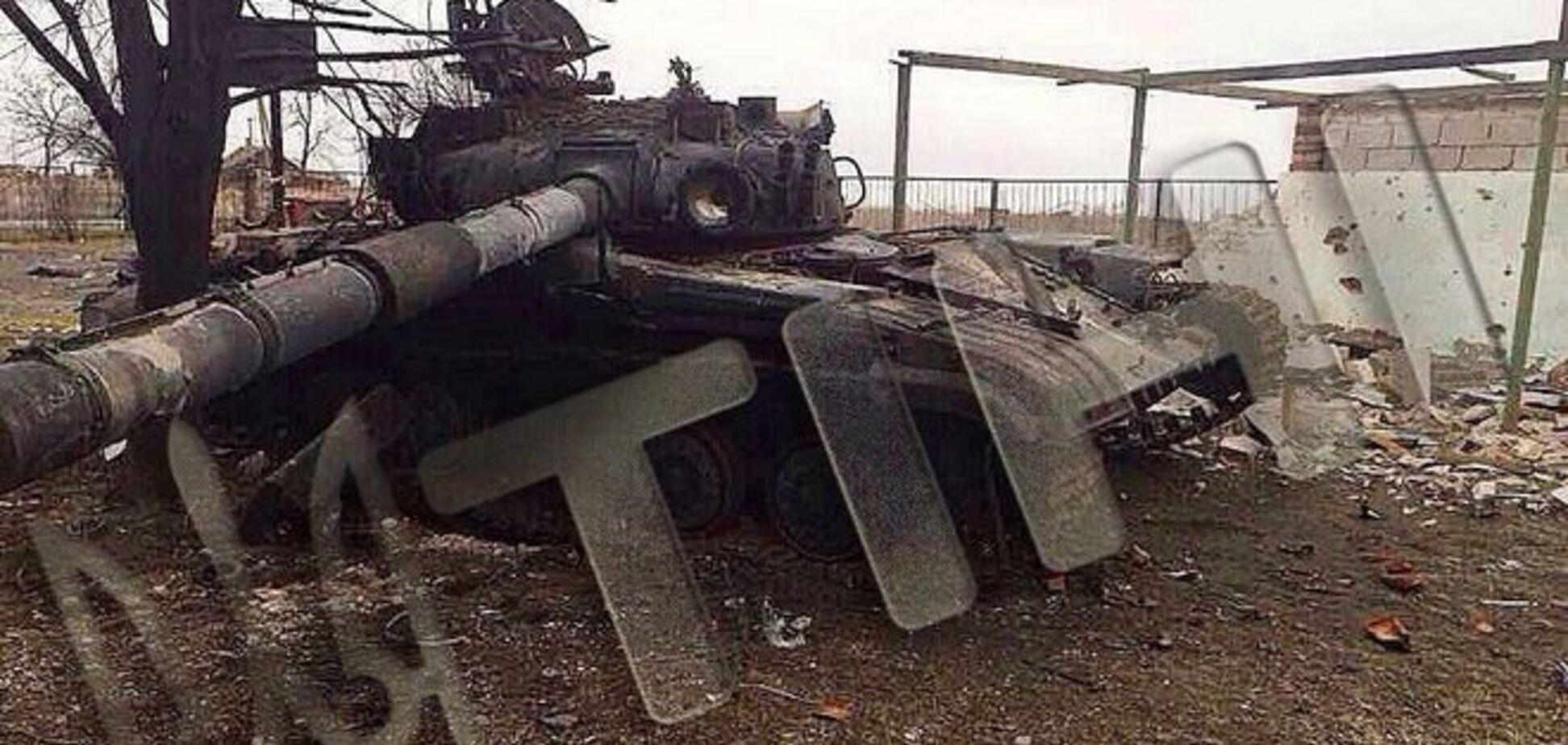 Донецкие партизаны подорвали еще один танк оккупантов: фотофакт