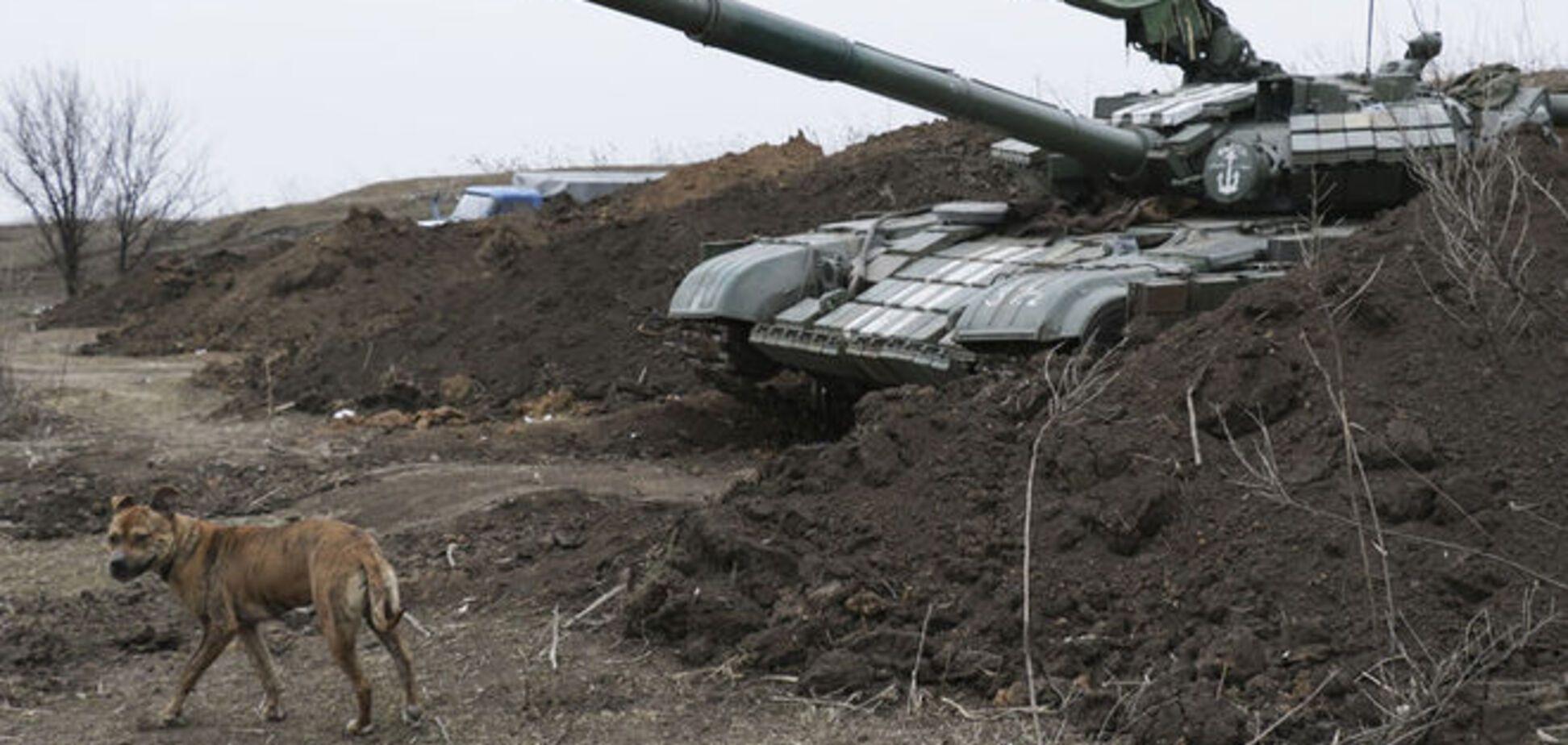 Террористы обстреляли позиции сил АТО из тяжелой артиллерии