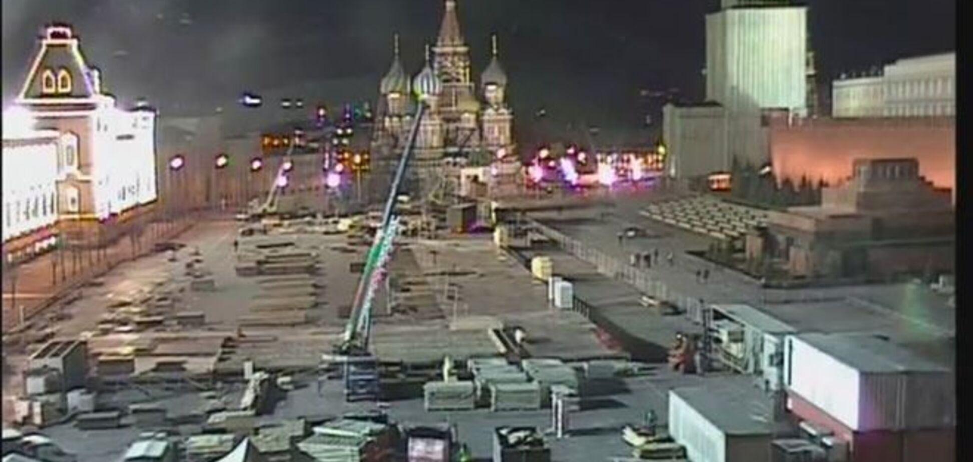 На Красной площади строят сцену: будут отмечать годовщину оккупации Крыма - соцсети