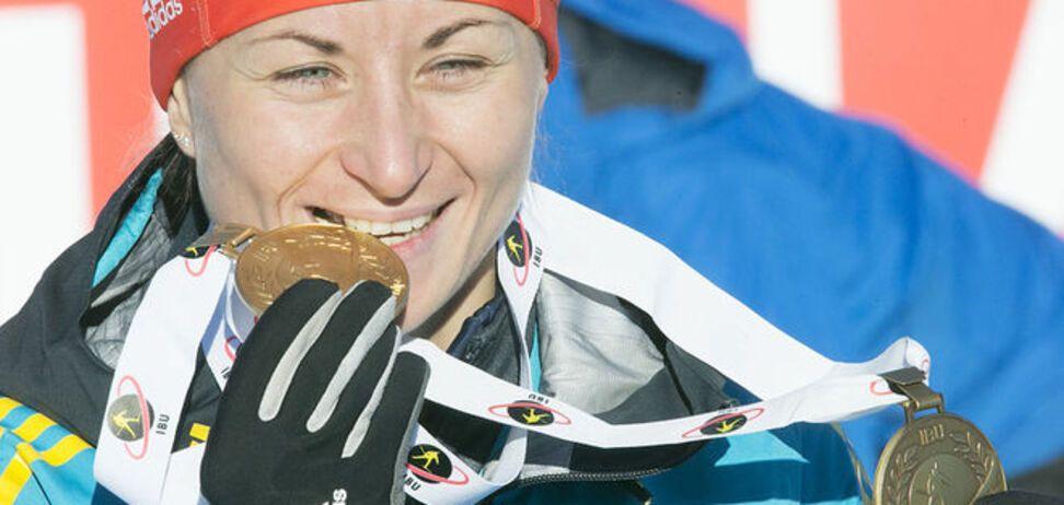 Украинка Семеренко блестяще завоевала золотую медаль на чемпионате мира по биатлону