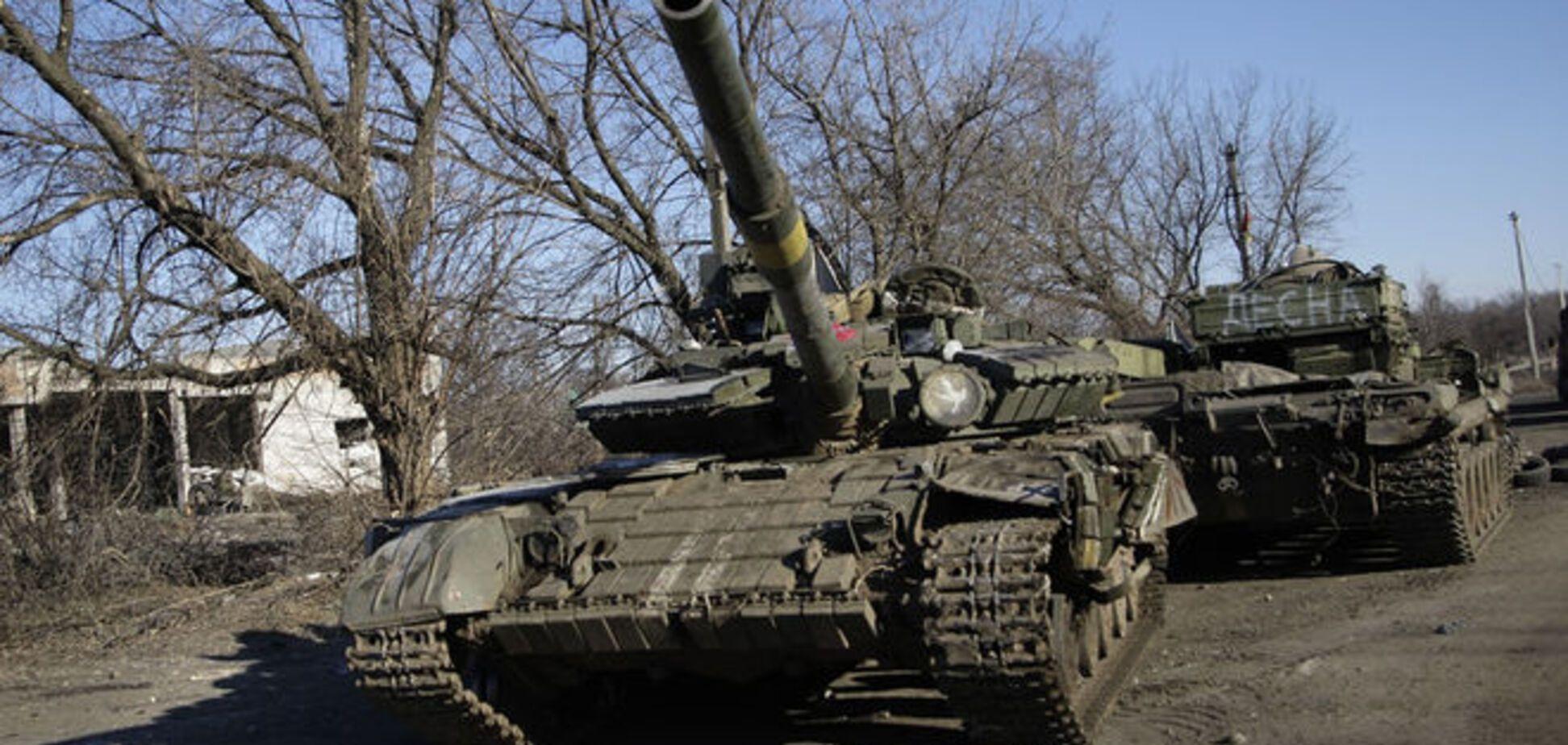 Террористы обстреляли Авдеевку из танка