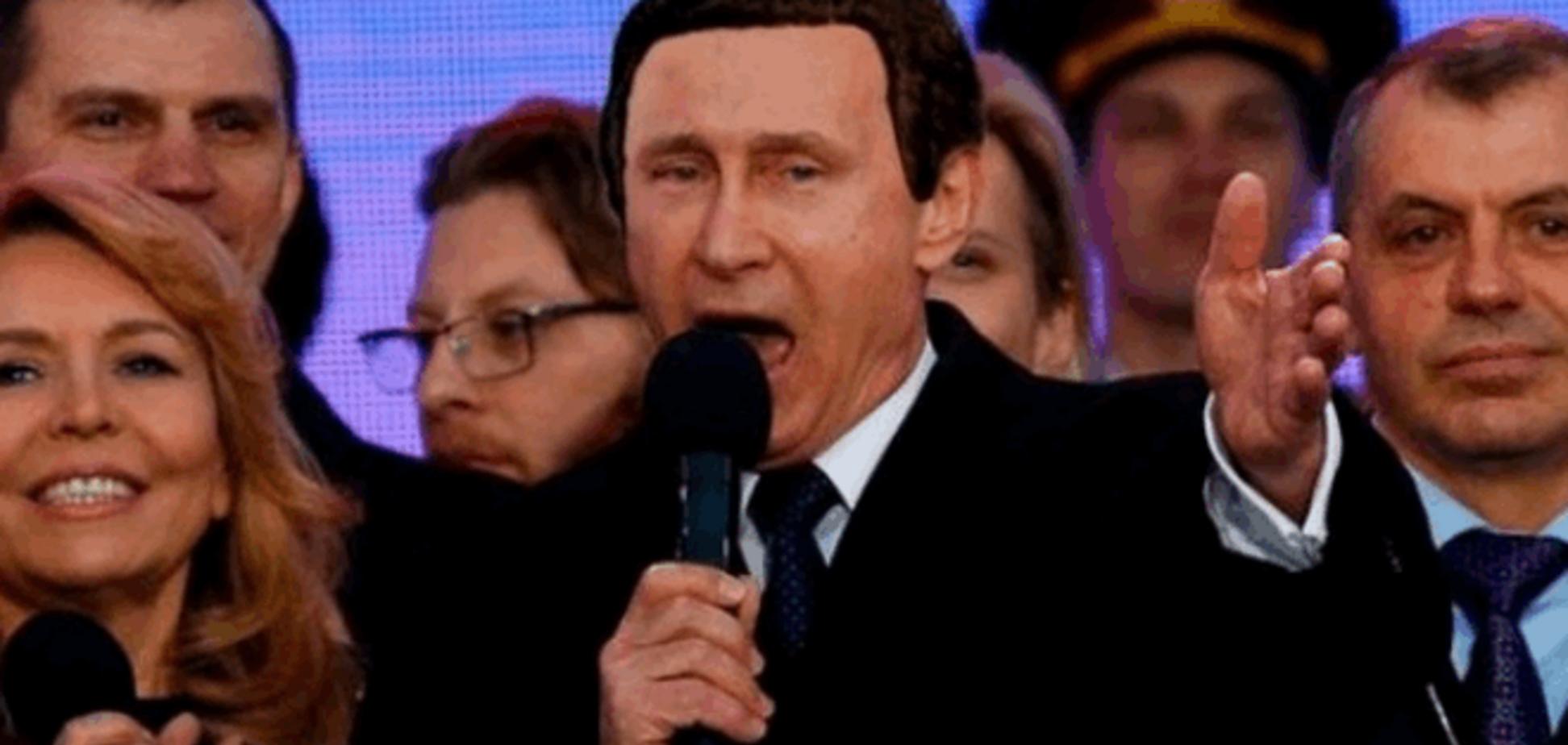 'С днем оккупанта!'.  Соцсети высмеяли празднование аннексии Крыма
