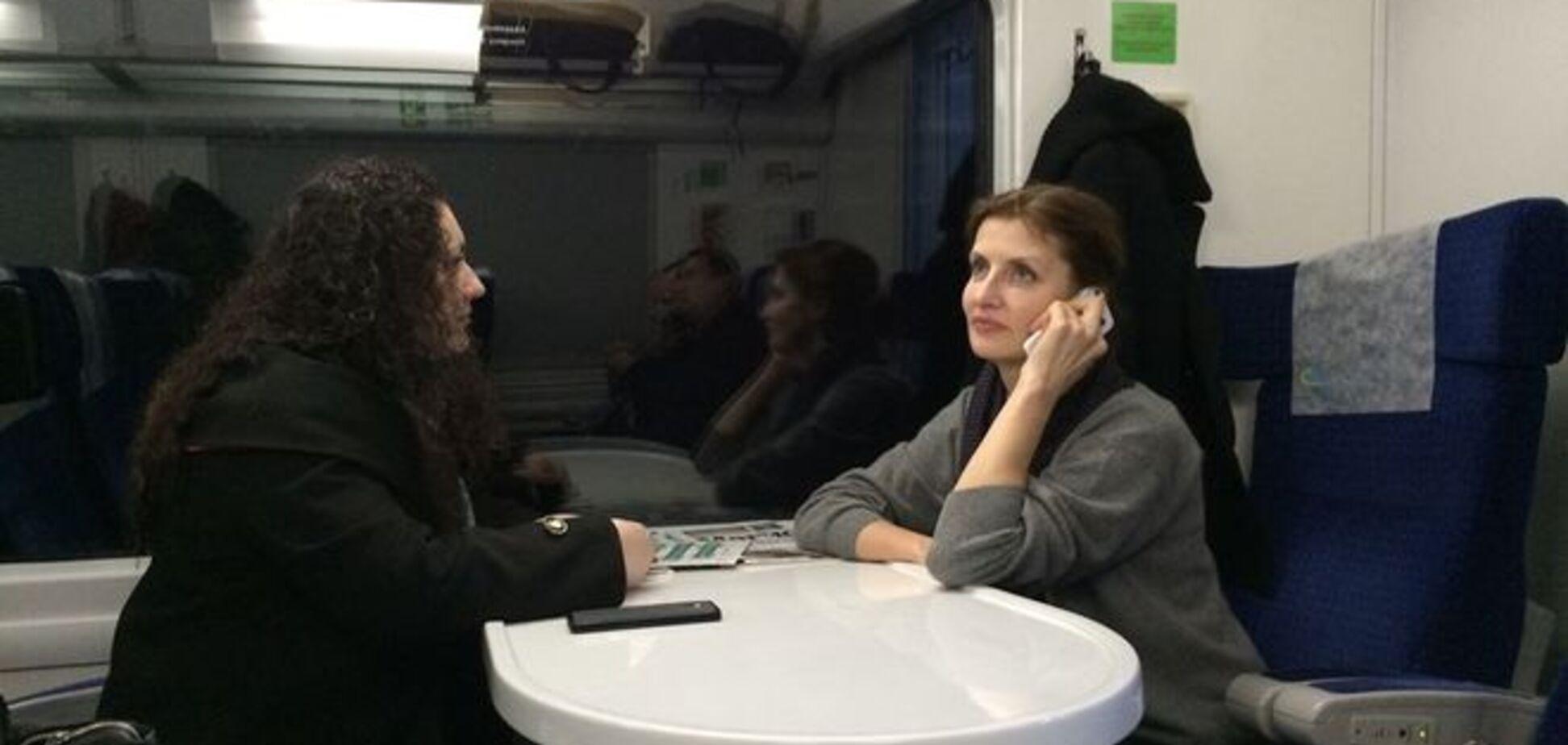 Марину Порошенко в поезде сравнили с Люсей Янукович в супермаркете