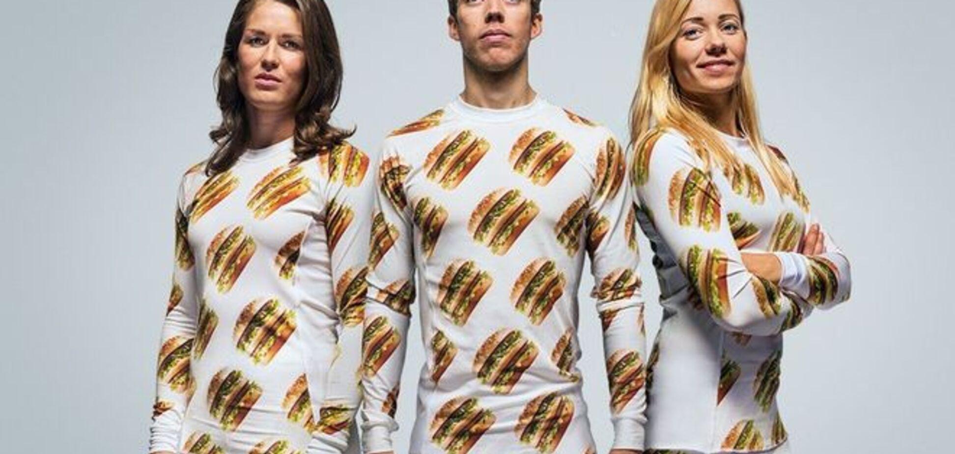Человек-бутерброд: McDonalds запустил линию 'вредной' одежды с биг-маками - фото коллекции