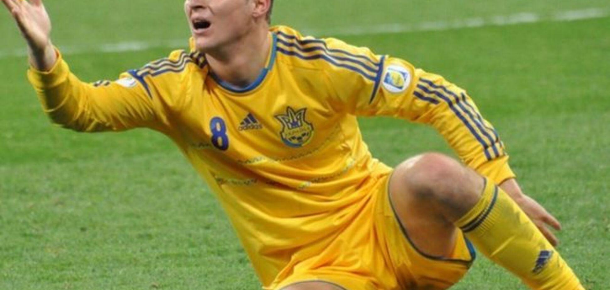 Сборная Украины лишилась форварда после матча с Испанией