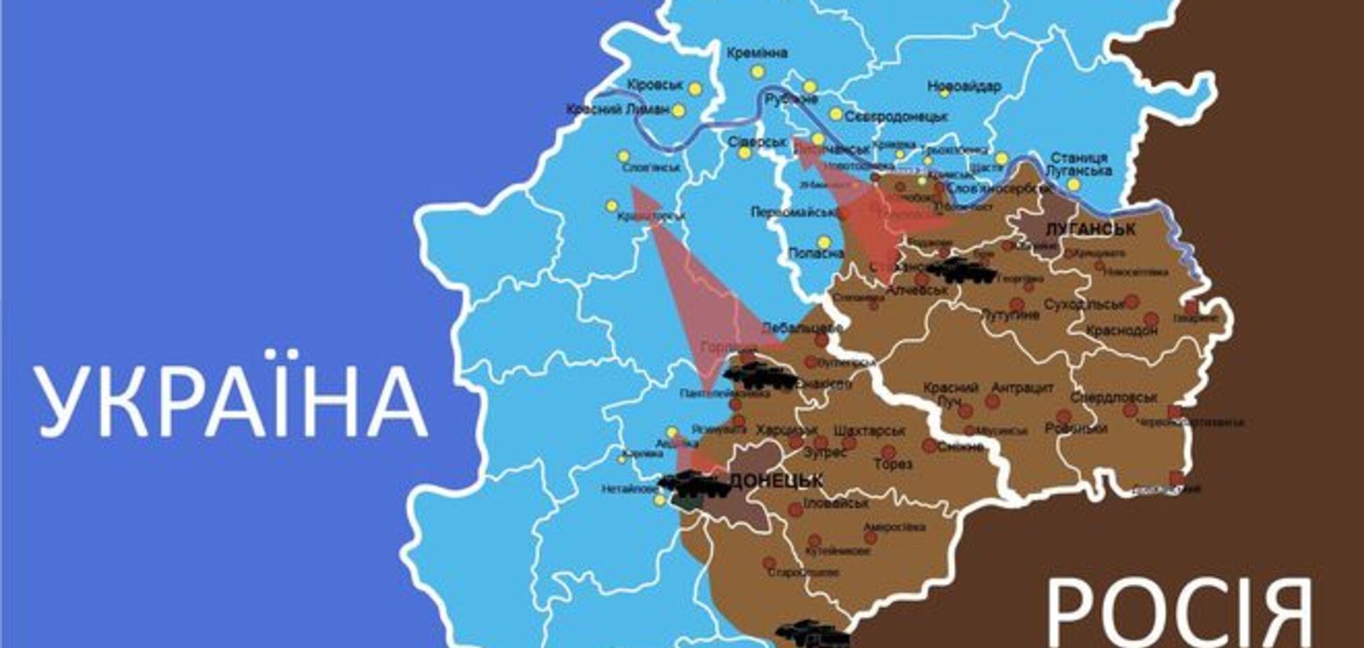 Опубликована карта возможных наступлений террористов в ближайшее время