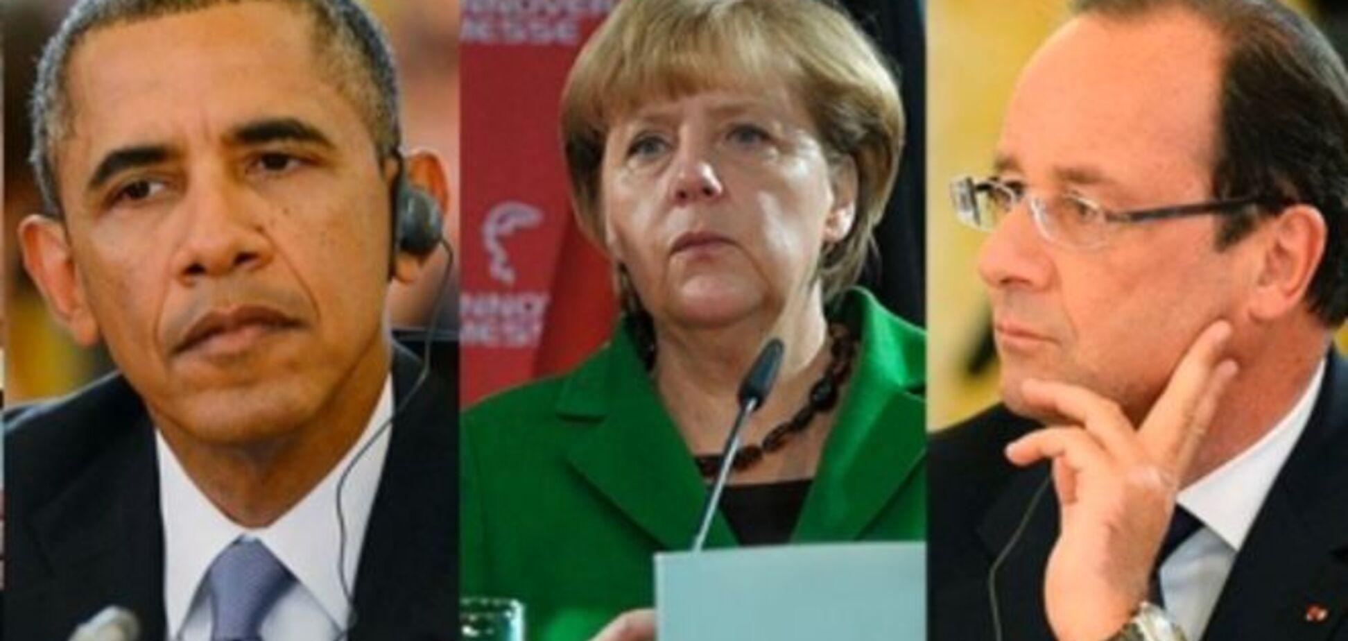 Обама, Меркель, Олланд и Кэмерон провели видеоконференцию по Украине