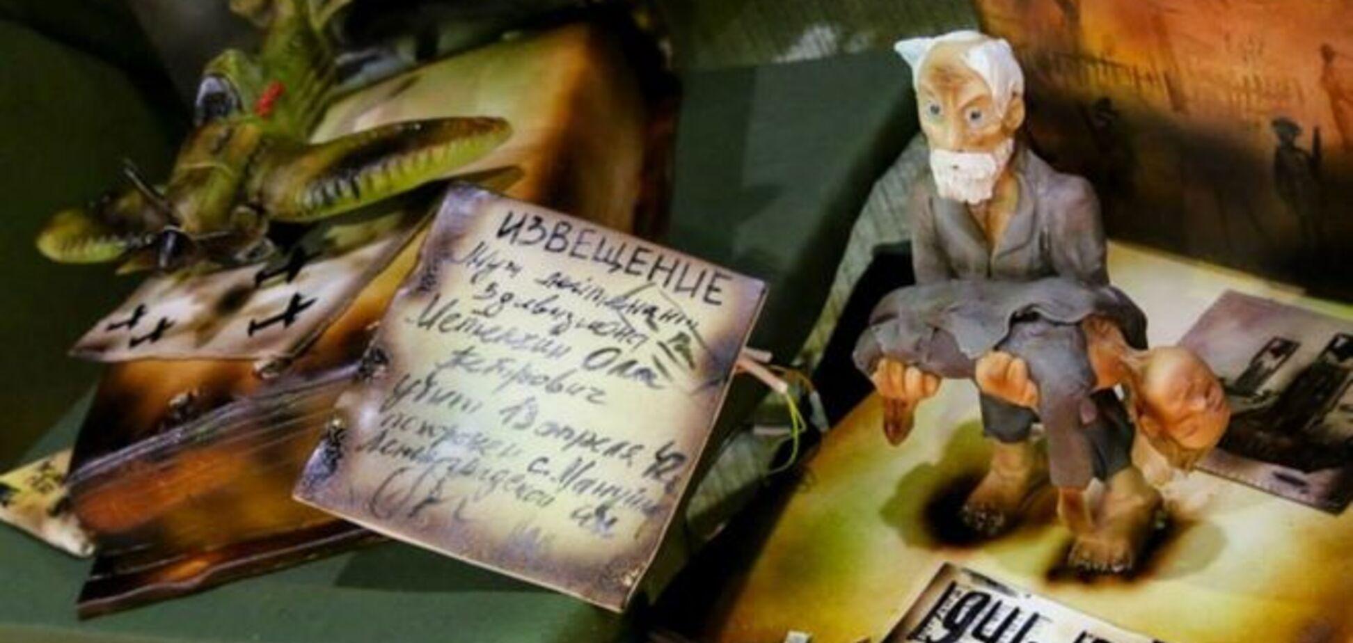 'В Красноярске утром рано дети съели ветерана'. Российских блогеров возмутил торт с мертвым мальчиком